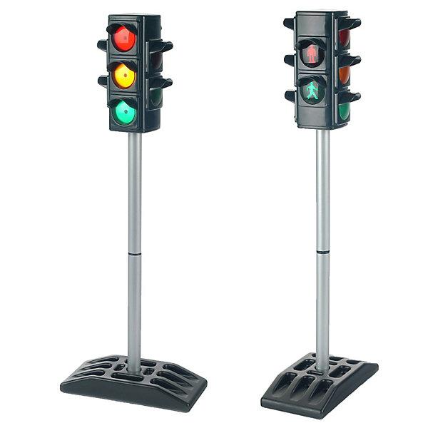 Функциональный светофор, KleinДорожные знаки и коврики<br>Функциональный светофор от Klein(Кляйн) поможет вашему ребенку стать вежливым пешеходом, соблюдающим все правила безопасности на дорогах. Светофор имеет 2 режима: ручной и автоматический, работает в четырех направлениях. Добавьте к светофору любимые игрушки и создайте настоящую дорожную атмосферу. Позаботьтесь о безопасности ребенка, научив его правилам дорожного движения с функциональным светофором!<br><br>Дополнительная информация:<br>Материал: пластик<br>Батарейки: АА - 4 шт.(в комплект не входят)<br>Размер упаковки: 17х28 х15 см<br>Высота светофора: 72 см<br><br>Вы можете приобрести функциональный светофор от Klein(Кляйн) в нашем интернет-магазине.<br><br>Ширина мм: 287<br>Глубина мм: 208<br>Высота мм: 154<br>Вес г: 920<br>Возраст от месяцев: 36<br>Возраст до месяцев: 96<br>Пол: Мужской<br>Возраст: Детский<br>SKU: 1600509