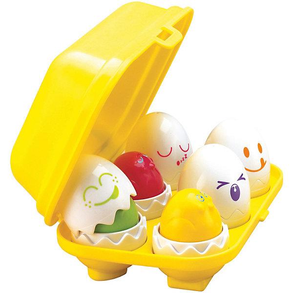 """Игрушка TOMY Найди яйцоИгрушки по суперценам!<br>Никогда ещё Ваш малыш не видел ничего более интересного – великолепная игра-сортер """"Найди яйцо"""" бренда TOMY (Томи) не только развлечет Вашего ребёнка, но и также будет способствовать развитию у него наиважнейших навыков.<br> <br>В небольшом чемоданчике находится 6 различных забавных яиц. В каждом из них находятся разноцветные птенчики. Малышу стоит лишь снять скорлупу с яиц, чтобы найти птенцов. Если он захочет погладить этих забавных созданий, нажав на голову птенца он """"нырнёт"""" обратно в скорлупу с забавным звуком.<br><br>Все яйца можно без труда достать из контейнера – но поставить их обратно будет не так-то просто, так как каждое яйцо обладает специальной формой (сердце, треугольник, квадратик, кружок, крестик и звёздочка) для крепления к чемоданчику.<br><br>Находя подходящее место для яичек, у малыша будет непосредственно развиваться логика. Он начнёт лучше различать формы и геометрические фигуры. Данная игрушка также способствует улучшению концентрации и памяти ребёнка и развитию причинно-следственной связи.<br><br>Отлично подходит как для мальчиков, так и для девочек.<br>Ну, разве это не сказка? Спешите порадовать Вашего ребёнка!<br><br>В набор входят:<br>- 6 яиц с различными смешными мордашками<br>- разноцветные птенцы, находящиеся в яйцах<br>- контейнер для яичек<br><br>Дополнительная информация:<br>Материал – высококачественный пластик<br>Вес – 350 гр<br>Размер – 21 х 17 х 8 см<br><br>Игрушку Найди яйцо, TOMY (Томи) можно купить в нашем магазине.<br>Ширина мм: 216; Глубина мм: 142; Высота мм: 83; Вес г: 388; Возраст от месяцев: 12; Возраст до месяцев: 48; Пол: Унисекс; Возраст: Детский; SKU: 1602928;"""