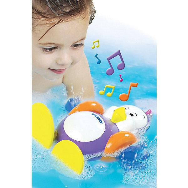 Игрушка для ванной Плескающийся пингвин, TOMYИгрушки для ванной<br>Игрушка для ванной «Пингвин» из серии AQUA FUN известного бренда TOMY (Томи) - это волшебная игрушка с уникальными возможностями для детей сделает купания Вашего малыша невероятно весёлыми!<br><br>Заведите пингвина и переверните его на спину - и он споёт Вашему малышу весёлую песенку, гребя при этом лапками. Плавая на животике, пингвин булькает, словно он и вправду плавает под водой.<br><br>Пингвинёнок также может мило бормотать на своём пингвинском языке, стоит только нажать на его маленький хохолок на макушке.<br><br>Превратите водные процедуры Вашего малыша в удовольствие!<br><br>Дополнительная информация:<br><br>Материал: пластмасса<br>Размер: 25 х 18 х 12 см (высота х ширина х глубина).<br>Работает на 3 гальванических элементах LR44 (входят в комплект).<br><br>Игрушку для ванной Плескающийся пингвин, TOMY (Томи) можно купить в нашем магазине.<br><br>Ширина мм: 218<br>Глубина мм: 187<br>Высота мм: 124<br>Вес г: 332<br>Возраст от месяцев: 12<br>Возраст до месяцев: 48<br>Пол: Унисекс<br>Возраст: Детский<br>SKU: 1602933