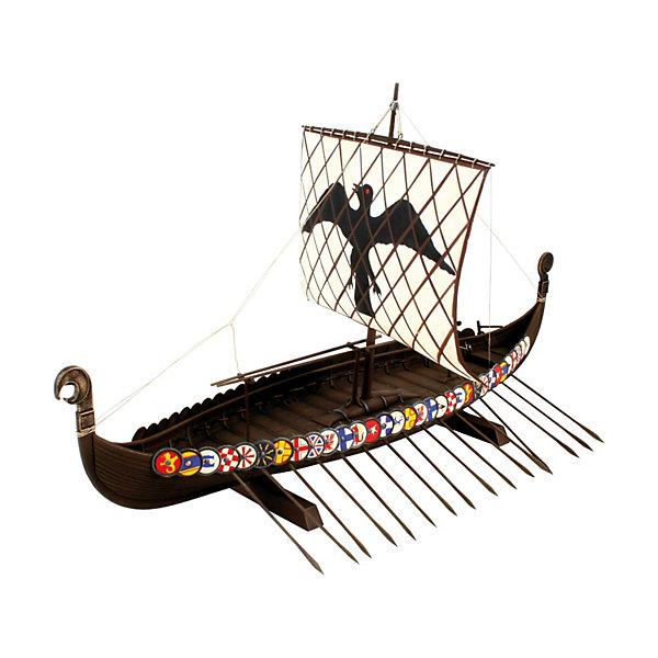 Корабль викингов (1:50)Корабли и подводные лодки<br>Характеристики товара:<br><br>• возраст: от 8 лет;<br>• масштаб: 1:50;<br>• количество деталей: 131 шт;<br>• материал: пластик;<br>• клей и краски в комплект не входят;<br>• длина модели: 38,5 см;<br>• высота модели: 23,7 см;<br>• бренд, страна бренда: Revell (Ревел),Германия;<br>• страна-изготовитель: Китай.<br><br>Сборная модель «Корабль викингов» поможет вам и вашему ребенку придумать увлекательное занятие на долгое время. Корабль выполнен в масштабе 1:50. Игрушка имеет высокую степень детализации, что делает ее точной копией настоящего морского судна. Парус поднят, весла готовы, щиты размещены вдоль бортов, чтобы защитить гребцов от вражеских стрел, хищная птица на носу корабля внимательно смотрит на воду. Ребенок почувствует себя настоящим гордым викингом.<br><br>Набор для склеивания включает в себя 131 пластиковый элемент, а также подробную инструкцию. Обращаем ваше внимание на тот факт, что для сборки этой модели клей и краски в комплект не входят. <br><br>Процесс сборки развивает интеллектуальные и инструментальные способности, воображение и конструктивное мышление, а также прививает практические навыки работы со схемами и чертежами.<br><br>Сборную модель «Корабль викингов», 131 дет., Revell (Ревел) можно купить в нашем интернет-магазине.<br>Ширина мм: 386; Глубина мм: 248; Высота мм: 67; Вес г: 420; Возраст от месяцев: 168; Возраст до месяцев: 1164; Пол: Мужской; Возраст: Детский; SKU: 1604136;