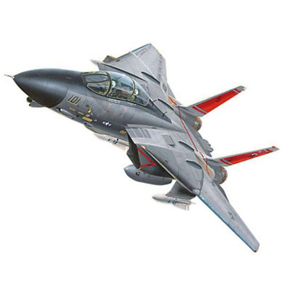 Сборка самолет F-14 Tomcat (1/100)Самолеты и вертолеты<br>Характеристики товара:<br><br>• возраст: от 6 лет;<br>• масштаб: 1:100;<br>• количество деталей: 24 шт;<br>• материал: пластик;<br>• клей и краски в комплект не входят;<br>• габариты модели: 18,5х20 см;<br>• бренд, страна бренда: Revell (Ревел),Германия;<br>• страна-изготовитель: Польша.<br><br>Сборная модель «Самолет F-14 Tomcat» поможет вам и вашему ребенку придумать увлекательное занятие на долгое время и получить игрушку в виде настоящего военного самолета. Модификация F-14A является двухместным всепогодным истребителем-перехватчиком. <br><br>Набор включает в себя 24 пластиковых элемента и подробную инструкцию. Все детали предварительно окрашены, а сама модель собирается без клея, при помощи специальных зажимов. Готовый истребитель украсит стол или книжную полку ребенка. <br><br>Процесс сборки развивает интеллектуальные и инструментальные способности, воображение и конструктивное мышление, а также прививает практические навыки работы со схемами и чертежами.<br><br>Сборную модель «Самолет F-14 Tomcat», 24 дет., Revell (Ревел) можно купить в нашем интернет-магазине.<br>Ширина мм: 243; Глубина мм: 158; Высота мм: 42; Вес г: 255; Возраст от месяцев: 72; Возраст до месяцев: 168; Пол: Мужской; Возраст: Детский; SKU: 1604145;