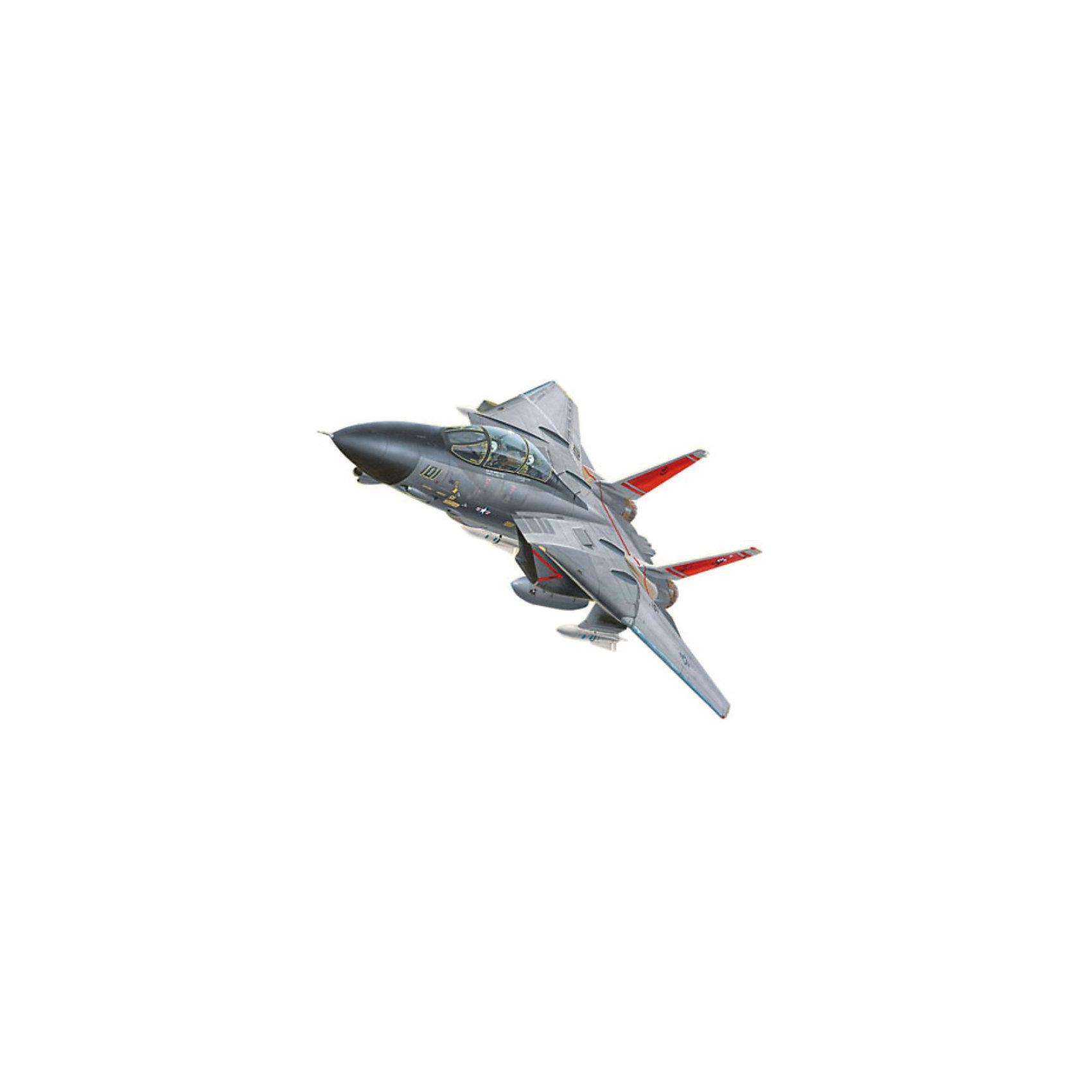 Сборка самолет F-14 Tomcat (1/100)Модели для склеивания<br>F-14A Tomcat - американский двухместный реактивный истребитель-перехватчик четвёртого поколения. Самолет был разработан в 1970-х для замены  истребителя F-4. Модификация F-14A является двухместным всепогодным истребителем-перехватчиком. Кроме того  в состав вооружения были добавлены высокоточные боеприпасы Всего на вооружение ВМС США  было поставлено  545 таких самолётов. С 2006 года F-14 снят с вооружения. <br>Масштаб: 1:100 <br>Количество деталей: 24 шт <br>Длина модели: 185 мм <br>Размах крыльев: 200 мм <br>Подойдет для детей старше 10-и лет <br>Для сборки этой модели клей и краски вам не потребуются, соединение деталей происходит посредством специальных зажимов!<br><br>Ширина мм: 243<br>Глубина мм: 158<br>Высота мм: 42<br>Вес г: 255<br>Возраст от месяцев: 72<br>Возраст до месяцев: 168<br>Пол: Мужской<br>Возраст: Детский<br>SKU: 1604145