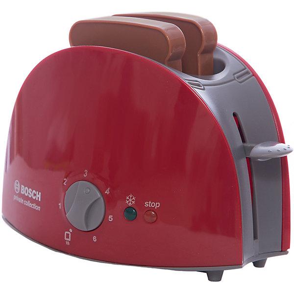 Тостер Bosch, KleinИгрушечная бытовая техника<br>Тостер Bosch от Klein(Кляйн) станет незаменимым помощником на игровой кухне ребенка. Он является точной копией своего прототипа - настоящего тостера. Кнопки и переключатель помогут девочке приготовить вкуснейшие тосты для кукол. С такой игрушкой девочка сможет почувствовать себя настоящей хозяйкой!<br><br>Дополнительная информация:<br>Материал: пластик<br>Размер упаковки: 10,5х18,5х13 см<br>Вес: 300 грамм<br>Размер тостера: 14х6х10 см<br><br>Купить тостер Bosch от Klein(Кляйн) можно в нашем интернет-магазине.<br><br>Ширина мм: 189<br>Глубина мм: 136<br>Высота мм: 109<br>Вес г: 346<br>Возраст от месяцев: 36<br>Возраст до месяцев: 72<br>Пол: Женский<br>Возраст: Детский<br>SKU: 1612492