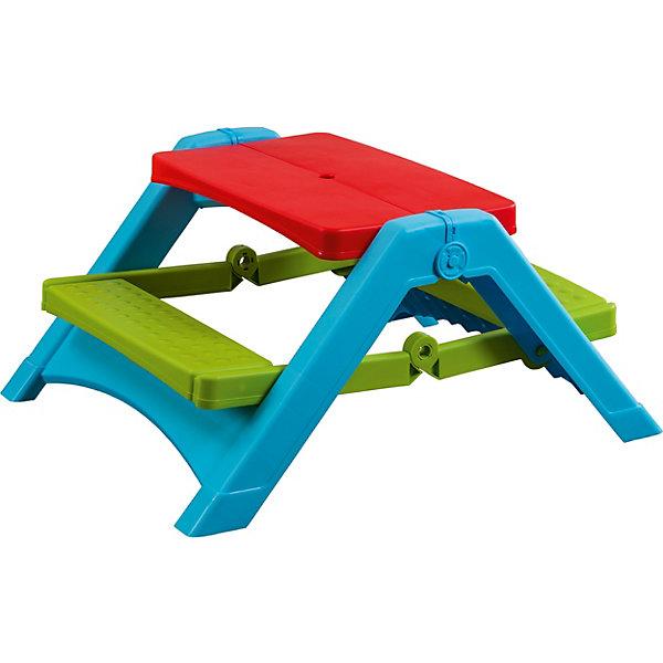 Складной стол для пикника, PalPlayДетские столы и стулья<br>Характеристики товара:<br><br>• Материал: пластик<br>• Размер стола в разложенном виде 103х86х48,5 см<br>• Размер стола в сложенном виде 72х25х86,6 см<br>• Размер упаковки 87х74х26 см<br>• Вес 6,9 кг, вес с упаковкой 8 кг.<br>• Страна производитель: Израиль<br><br>Складной стол для пикника PalPlay — яркий детский столик для пикника на природе. Стол представляет собой конструкцию из столешницы и двух скамеек, на которых могут разместиться все детишки.<br><br>Стол изготовлен из безвредного нетоксичного пластика. На конструкции отсутствуют острые элементы, что исключает случайные травмы. Стол легко складывается, что позволяет перевозить его в автомобиле или компактно хранить дома, не занимая много места.<br><br>Складной стол для пикника PalPlay можно приобрести в нашем интернет-магазине.<br>Ширина мм: 250; Глубина мм: 690; Высота мм: 810; Вес г: 7960; Возраст от месяцев: 24; Возраст до месяцев: 1164; Пол: Унисекс; Возраст: Детский; SKU: 1615951;