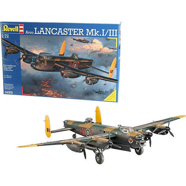 Самолет (1942г.,Великобритания) Avro Lancaster Mk. I/II, 1:72Самолеты и вертолеты<br>Характеристики товара:<br><br>• возраст: от 10 лет;<br>• масштаб: 1:72;<br>• количество деталей: 257 шт;<br>• материал: пластик; <br>• клей и краски в комплект не входят;<br>• длина модели: 29,5 см;<br>• размах крыльев: 42,8 см;<br>• бренд, страна бренда: Revell (Ревел),Германия;<br>• страна-изготовитель: Китай.<br><br>Сборная модель для склеивания «Самолет Avro Lancaster Mk. I/II» поможет вам и вашему ребенку придумать увлекательное занятие на долгое время и заполнит досуг веселой игрой. Самолет получается достаточно внушительных размеров и сможет занять достойное место в вашей коллекции.<br><br>Набор включает в себя 257 элементов из высококачественного пластика, схема для окрашивания модели и инструкция, с помощью которых можно собрать достоверную уменьшенную копию настоящего самолета.<br> <br>Процесс сборки развивает интеллектуальные и инструментальные способности, воображение и конструктивное мышление, а также прививает практические навыки работы со схемами и чертежами. <br>Обращаем ваше внимание на тот факт, что для сборки этой модели клей и краски в комплект не входят. <br><br>Сборную модель для склеивания «Самолет Avro Lancaster Mk. I/II», 257 дет., Revell (Ревел) можно купить в нашем интернет-магазине.<br><br>Ширина мм: 386<br>Глубина мм: 67<br>Высота мм: 248<br>Вес г: 475<br>Возраст от месяцев: 36<br>Возраст до месяцев: 1164<br>Пол: Мужской<br>Возраст: Детский<br>SKU: 1632307