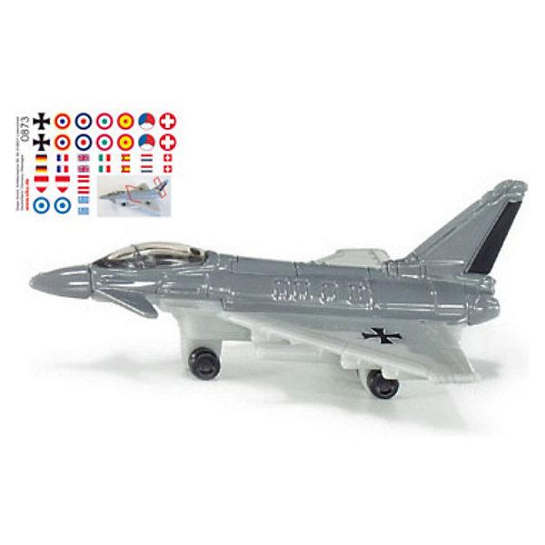 SIKU 0873 Реактивный истребительСамолёты и вертолёты<br>Модель реактивного истребителя фирмы SIKU отличается великолепным дизайном, вращающимися колесами, разнообразным вооружением и целым набором различных опознавательных знаков.<br><br>Игрушечные модели SIKU изготавливаются в соответствии с актуальными предписаниями по безопасности, имеют сертификаты T?V, GS и отмечены знаком Spiel-gut.<br><br>Игрушки не предназначены для детей младше 36 месяцев, так как содержат мелкие детали, которые могут быть проглочены.<br><br><br>Д/Ш/В: 69x48x27 мм<br><br>+++Примечание+++<br>Фирма SIKU оставляет за собой право на изменение цвета и технических характеристик моделей. При демонстрации новинок в ряде случаев используются оригинальные фотографии и прототипы. Поставляемая модель может отличаться от представленной на фотографии.<br>Ширина мм: 95; Глубина мм: 78; Высота мм: 40; Вес г: 26; Возраст от месяцев: 36; Возраст до месяцев: 96; Пол: Мужской; Возраст: Детский; SKU: 1636678;