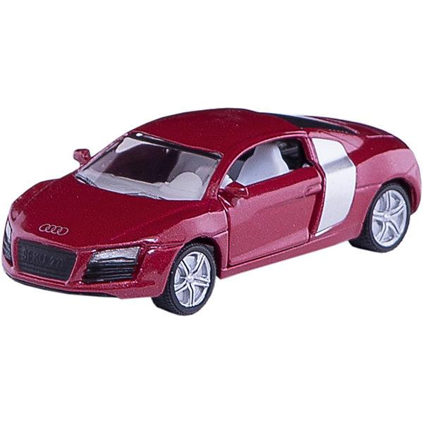 SIKU 1430 Audi R8Машинки<br>Первый спортивный суперавтомобиль с четырьмя кольцами на радиаторе. Очень широкие колеса с резиновыми протекторами обеспечивают идеальное сцепление с дорогой в любой поездке. Двери открываются, диски соответствуют оригинальным вплоть до деталей. Необычное цветовое решение радует глаз.<br><br>Игрушечные модели SIKU уже более 50 лет отличаются высоким качеством и безопасностью. Они имеют сертификаты T?V и GS, изготавливаются в соответствии с актуальными предписаниями по безопасности и отмечены знаком SPIEL GUT. Игрушки не предназначены для детей младше 36 месяцев, так как содержат мелкие детали, которые могут быть проглочены.<br><br>Д/Ш/В: 80x37x24 мм<br><br>+++Примечание+++<br>Фирма SIKU оставляет за собой право на изменение цвета и технических характеристик моделей. При демонстрации новинок в ряде случаев используются оригинальные фотографии и прототипы. Поставляемая модель может отличаться от представленной на фотографии.<br><br>Ширина мм: 94<br>Глубина мм: 78<br>Высота мм: 38<br>Вес г: 56<br>Возраст от месяцев: 36<br>Возраст до месяцев: 96<br>Пол: Мужской<br>Возраст: Детский<br>SKU: 1636693