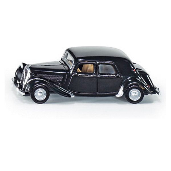 SIKU 1471 Citroen Traction AvantМашинки<br>Traction Avant, всемирно известный как гангстерский ситроен – это вторая историческая модель автомобиля в ассортименте металлических моделей SIKU. Модель окрашена в классический черный цвет. Внешний вид оригинала передан безупречно. Разумеется, двери модели открываются против движения.<br><br>Игрушечные модели SIKU уже более 50 лет отличаются высоким качеством и безопасностью. Они имеют сертификаты T?V и GS, изготавливаются в соответствии с актуальными предписаниями по безопасности и отмечены знаком SPIEL GUT. Игрушки не предназначены для детей младше 36 месяцев, так как содержат мелкие детали, которые могут быть проглочены.<br><br>Д/Ш/В: 85x33x27 мм<br><br>+++Примечание+++<br>Фирма SIKU оставляет за собой право на изменение цвета и технических характеристик моделей. При демонстрации новинок в ряде случаев используются оригинальные фотографии и прототипы. Поставляемая модель может отличаться от представленной на фотографии.<br><br>Ширина мм: 97<br>Глубина мм: 80<br>Высота мм: 38<br>Вес г: 59<br>Возраст от месяцев: 36<br>Возраст до месяцев: 96<br>Пол: Мужской<br>Возраст: Детский<br>SKU: 1636695