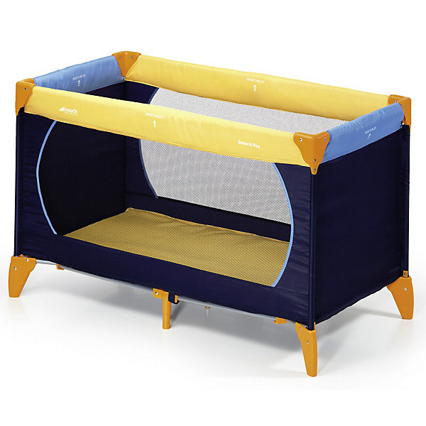 Манеж Dream`n Play, Hauck, yellow/blue/navy