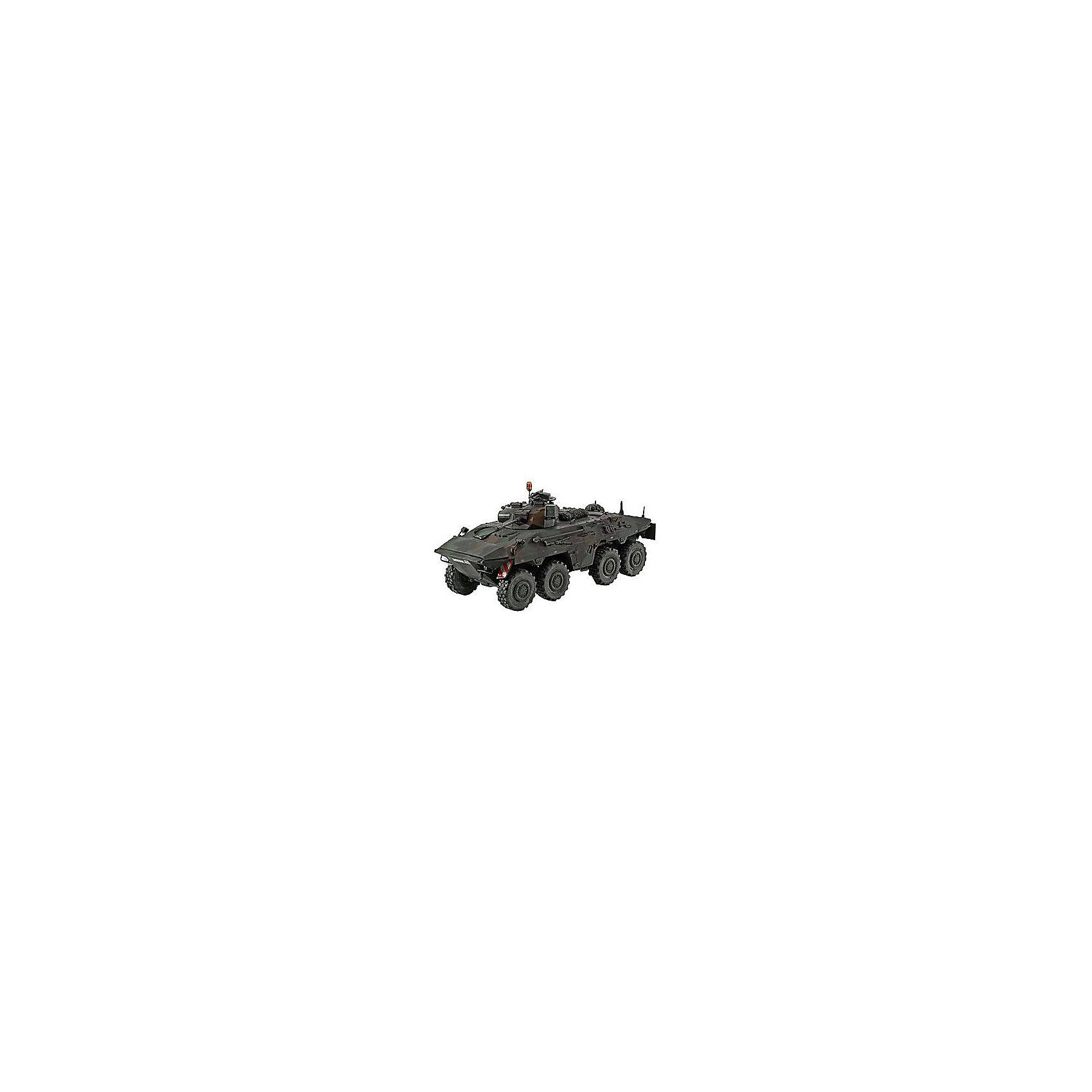 Военная машина Luchs A1/A2Модели для склеивания<br>Характеристики товара:<br><br>• возраст: от 10 лет;<br>• масштаб: 1:35;<br>• количество деталей: 224 шт;<br>• материал: пластик; <br>• клей и краски в комплект не входят;<br>• длина модели: 21,8 см;<br>• бренд, страна бренда: Revell (Ревел), Германия;<br>• страна-изготовитель: Польша.<br><br>Сборная модель «Военная машина Luchs A1/A2» поможет вам и вашему ребенку собрать точную копию танка, выполненную в масштабе 1:35 из высококачественного пластика.<br><br>Танк-амфибия SpPz 2 Luchs A1/A2 производства Thyssen-Henschel создается с 1975 года. За все время было выпущено 408 подобных военных машин.<br><br>В комплект набора для склеивания и раскрашивания входит 224 пластиковых деталей, а также подробная иллюстрирована инструкция. Обращаем ваше внимание на тот факт, что для сборки этой модели клей и краски в комплект не входят. <br><br>Моделирование — это очень увлекательное и полезное занятие, которое по достоинству оценят не только дети, но и взрослые, увлекающиеся военной техникой. Сборка моделей поможет ребенку развить воображение, мелкую моторику ручек и логическое мышление.<br><br>Сборную модель «Военная машина Luchs A1/A2», 224 дет., Revell (Ревел) можно купить в нашем интернет-магазине.<br><br>Ширина мм: 238<br>Глубина мм: 59<br>Высота мм: 368<br>Вес г: 375<br>Возраст от месяцев: 72<br>Возраст до месяцев: 1164<br>Пол: Мужской<br>Возраст: Детский<br>SKU: 1696189