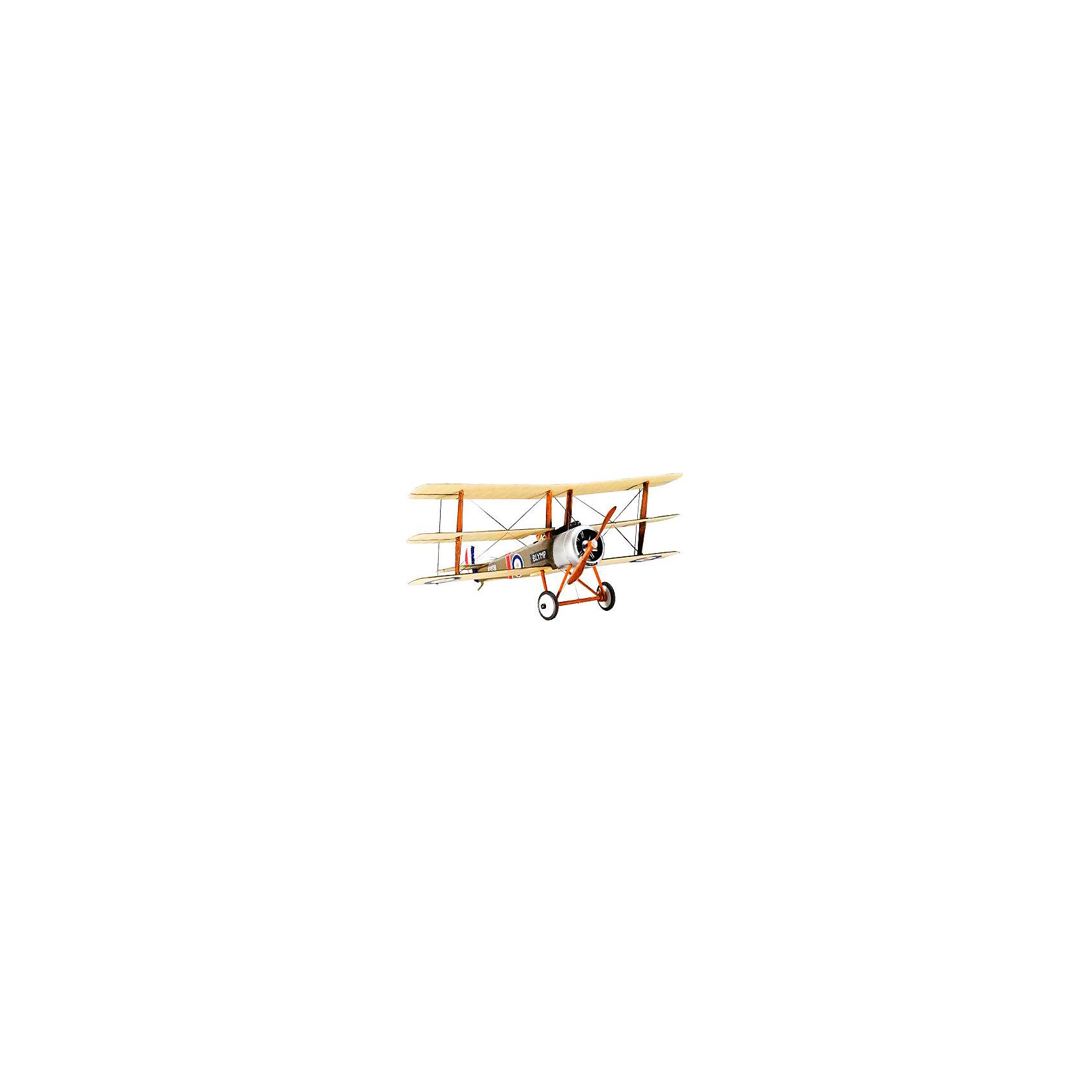 Ретро-истребитель Sopwith Triplane, RevellСамолёты и вертолёты<br>Характеристики товара:<br><br>• возраст от 10 лет;<br>• материал: пластик;<br>• в комплекте: 23 детали;<br>• размер собранной модели 11,3х8,3 см;<br>• масштаб 1:72;<br>• размер упаковки 18х11х3 см;<br>• страна производитель: Польша.<br><br>Сборная модель «Ретро-истребитель Sopwith Triplane» Revell позволит собрать модель истребителя Sopwith Triplane, который был выпущен в Великобритании и использовался во время Первой мировой войны.<br><br>Детали легко соединяются между собой. Готовую модель для прочности следует склеить, а также раскрасить (клей и краски с комплект не входят). В процессе сборки у детей развиваются мышление, логика, усидчивость, внимательность.<br><br>Ретро-истребитель Sopwith Triplane Revell можно приобрести в нашем интернет-магазине.<br><br>Ширина мм: 9999<br>Глубина мм: 9999<br>Высота мм: 9999<br>Вес г: 9999<br>Возраст от месяцев: 72<br>Возраст до месяцев: 1164<br>Пол: Мужской<br>Возраст: Детский<br>SKU: 1696199