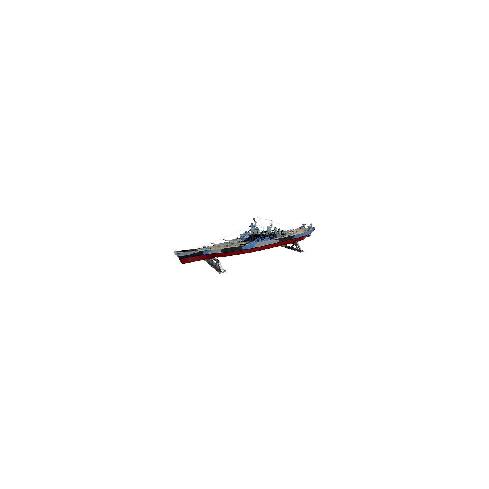 """Военный корабль USS Missouri (1/535)Модели для склеивания<br>Модель американского линкора """"Миссури"""". Корабль является одним из крупнейших и самых мощных кораблей в ВМС США. Линкор был спущен на воду в 1944 году Вошел в историю после подписания на его борту капитуляции Японии. Миссури является последним из четырех линкоров класса Айва. Сейчас судно находится на вечной стоянке в гавани Пёрл-Харбора в качестве корабля-музея <br>Масштаб: 1:535 <br>Количество деталей: 75 <br>Длина модели: 502 мм <br>Подойдет для детей старше 10-и лет <br>Клей, краски и кисточки продаются отдельно<br><br>Ширина мм: 135<br>Глубина мм: 56<br>Высота мм: 518<br>Вес г: 322<br>Возраст от месяцев: 72<br>Возраст до месяцев: 1164<br>Пол: Мужской<br>Возраст: Детский<br>SKU: 1696204"""