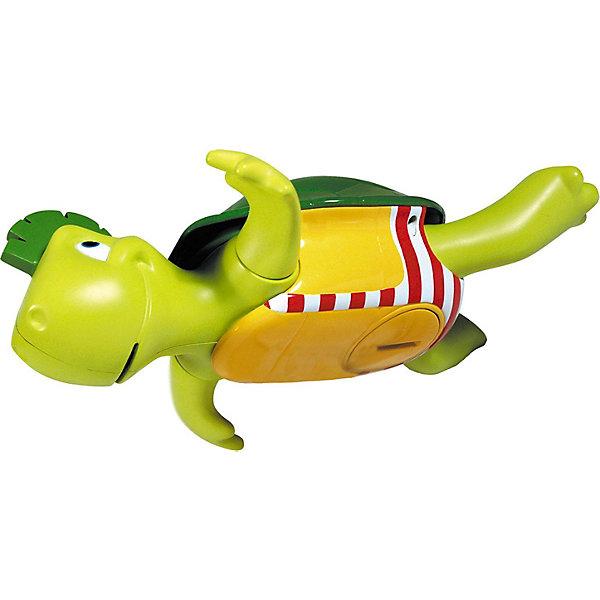 Игрушка для ванной Поющая черепашка, TOMYДинамические игрушки<br>Пластмассовая игрушка для ванной «Поющая Черепашка» серии AQUA FUN от известного бренда TOMY (Томи) привлекательной формы и окраски не только плавает - при этом она ещё и поёт!<br><br>Черепашка лежит на спине, гребёт лапками и напевает весёлый Дунайский вальс. <br><br>Малыш переворачивает черепашку на живот - и она без устали плывет дальше. <br><br>Как и все настоящие черепахи, Поющая Черепашка чувствует себя как дома и в воде, и на суше, так что малыш сможет играть с ней не только во время купания.<br><br>Дополнительная информация:<br>- Игрушка работает на трёх батарейках типа LR44 (входят в комплект)-<br>- Размер упаковки (д/ш/в): 12 х 24,5 х 18 см<br><br>Весёлая черепашка с радостью будет развлекать Вашего малыша во время купания!<br>Ширина мм: 216; Глубина мм: 187; Высота мм: 182; Вес г: 415; Возраст от месяцев: 12; Возраст до месяцев: 48; Пол: Унисекс; Возраст: Детский; SKU: 1698383;