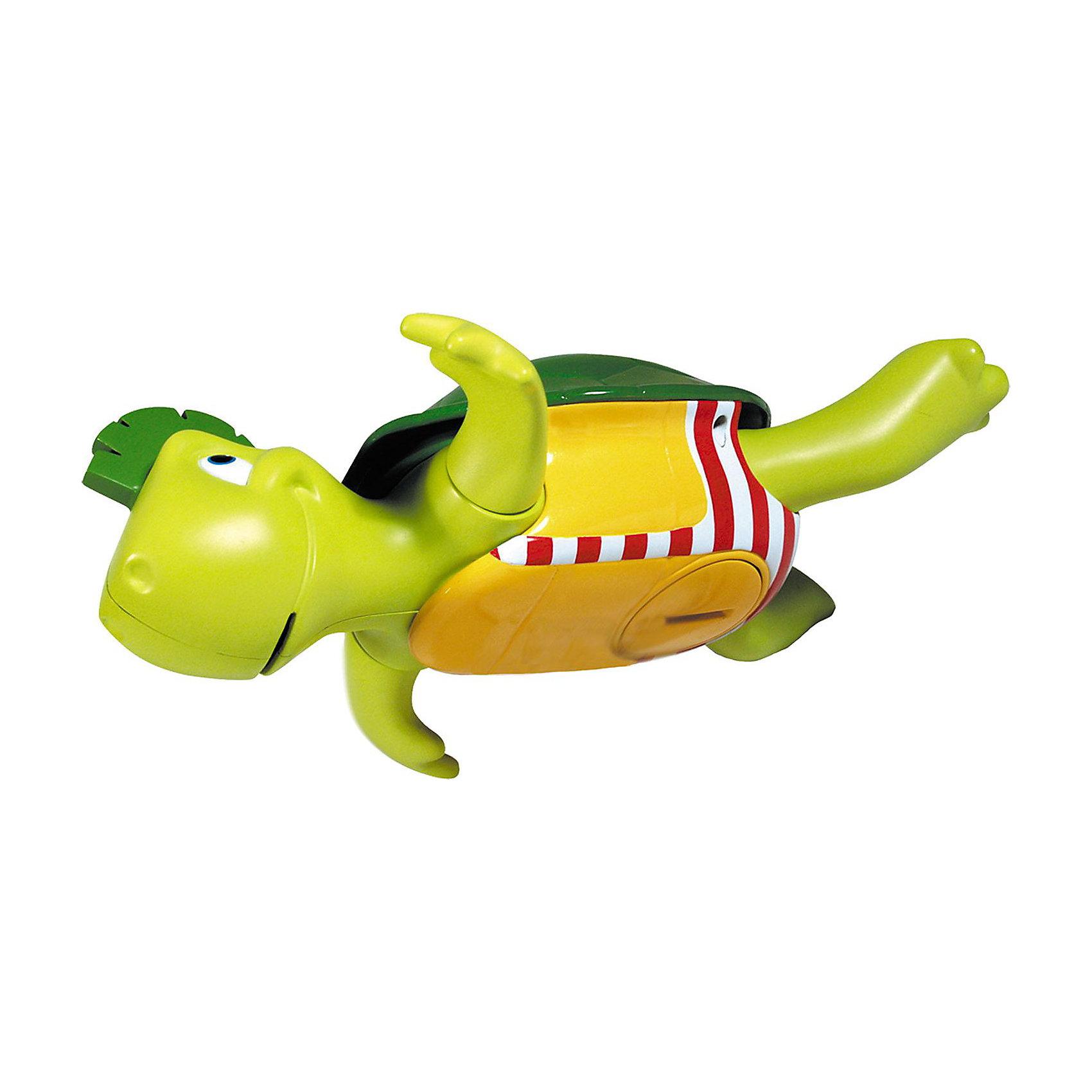 Игрушка для ванной Поющая черепашка, TOMYИгровые наборы<br>Пластмассовая игрушка для ванной «Поющая Черепашка» серии AQUA FUN от известного бренда TOMY (Томи) привлекательной формы и окраски не только плавает - при этом она ещё и поёт!<br><br>Черепашка лежит на спине, гребёт лапками и напевает весёлый Дунайский вальс. <br><br>Малыш переворачивает черепашку на живот - и она без устали плывет дальше. <br><br>Как и все настоящие черепахи, Поющая Черепашка чувствует себя как дома и в воде, и на суше, так что малыш сможет играть с ней не только во время купания.<br><br>Дополнительная информация:<br>- Игрушка работает на трёх батарейках типа LR44 (входят в комплект)-<br>- Размер упаковки (д/ш/в): 12 х 24,5 х 18 см<br><br>Весёлая черепашка с радостью будет развлекать Вашего малыша во время купания!<br><br>Ширина мм: 216<br>Глубина мм: 187<br>Высота мм: 182<br>Вес г: 373<br>Возраст от месяцев: 12<br>Возраст до месяцев: 48<br>Пол: Унисекс<br>Возраст: Детский<br>SKU: 1698383