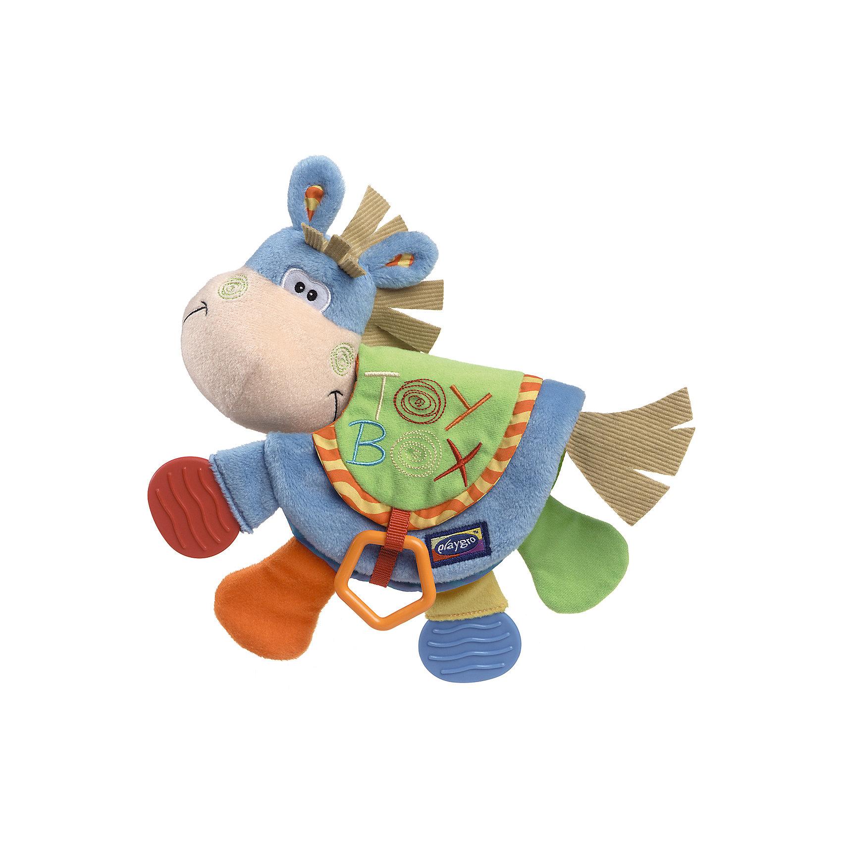 Мягкая игрушка-книжка Toy boxМягкая игрушка-книжка Toy box Playgro (Плейгро) - забавная книжки из высококачественного материала! <br><br>В книжке три разворота с яркими картинками. Странички выполнены из хлопчатобумажной ткани разной фактуры и наполнены шелестящим материалом. К книжке прикреплены три прорезывателя из специального, безопасного пластика. Также встроена пищалка.<br><br>Книгу можно читать и жевать. Идеально подходит для малышей с резущимися зубками. <br><br>Мягкую игрушку-книжку Toy box Playgro можно купить в нашем интернет-магазине.<br><br>Дополнительная информация:<br>- Материал верхний: 78% полиэстер, 22% хлопок.<br>- Наполнитель: 100% полиэстер.<br>- Возможна только ручная стирка.<br>- Размер упаковки: 27 х 23 х 6,5 см.<br><br>Ширина мм: 270<br>Глубина мм: 230<br>Высота мм: 65<br>Вес г: 90<br>Возраст от месяцев: 6<br>Возраст до месяцев: 12<br>Пол: Унисекс<br>Возраст: Детский<br>SKU: 1715126
