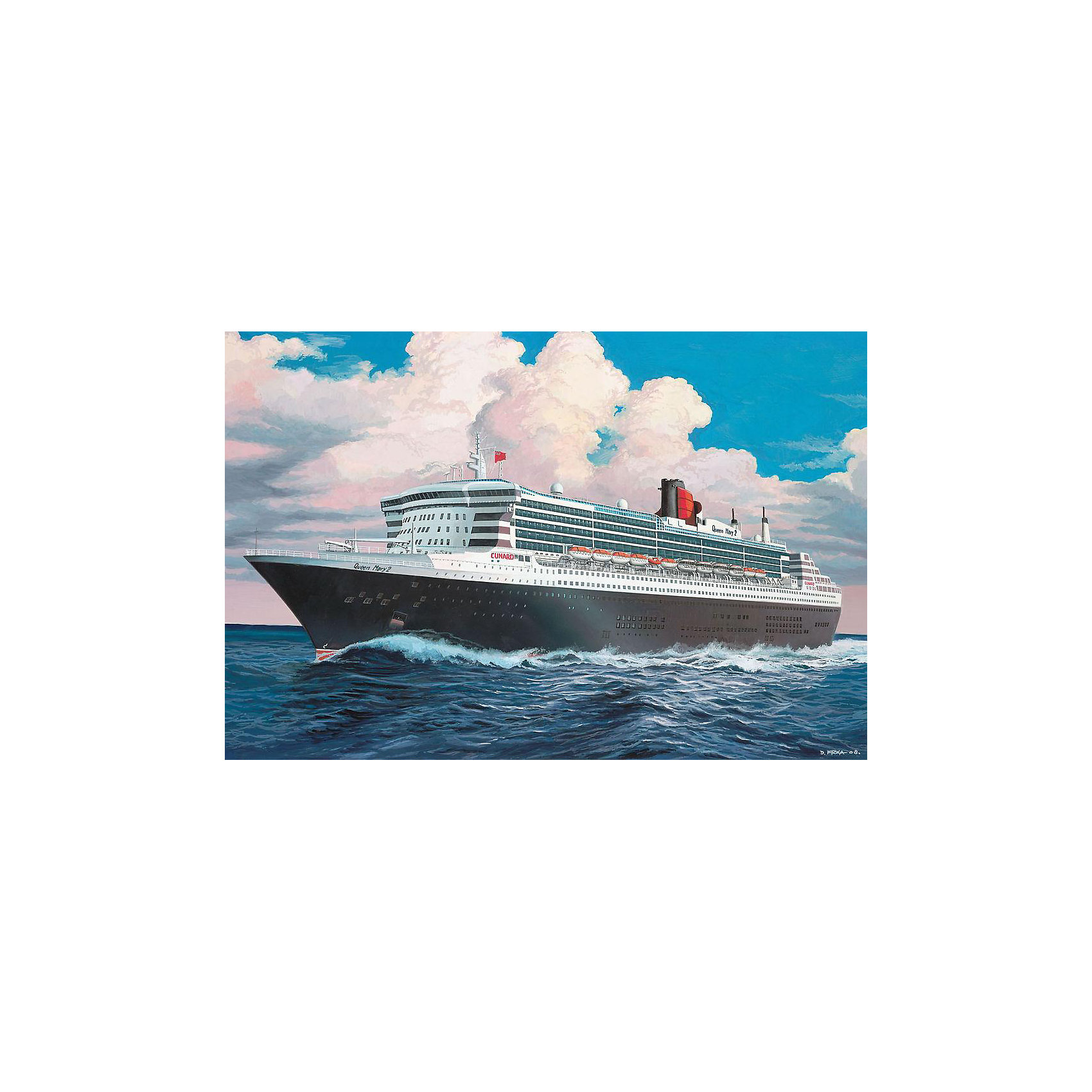 Лайнер Queen Mary 2 (1:1200)Модели для склеивания<br>Модель океанского лайнера Queen Mary 2. Корабль является флагманом британской судоходной компании Cunard Line. Был спущен на воду в 2003 году. На данным момент Queen Mary 2 является единственным судном курсирующий по трансатлантической линии Саутгемптон — Нью-Йорк. <br>Масштаб: 1:1200 <br>Количество деталей: 45 <br>Длина модели: 287 мм <br>Подойдет для детей старше 10-и лет. <br>ВНИМАНИЕ: Клей, краски и кисточки приобретаются отдельно.<br><br>Ширина мм: 183<br>Глубина мм: 46<br>Высота мм: 311<br>Вес г: 220<br>Возраст от месяцев: 168<br>Возраст до месяцев: 1164<br>Пол: Мужской<br>Возраст: Детский<br>SKU: 1720802