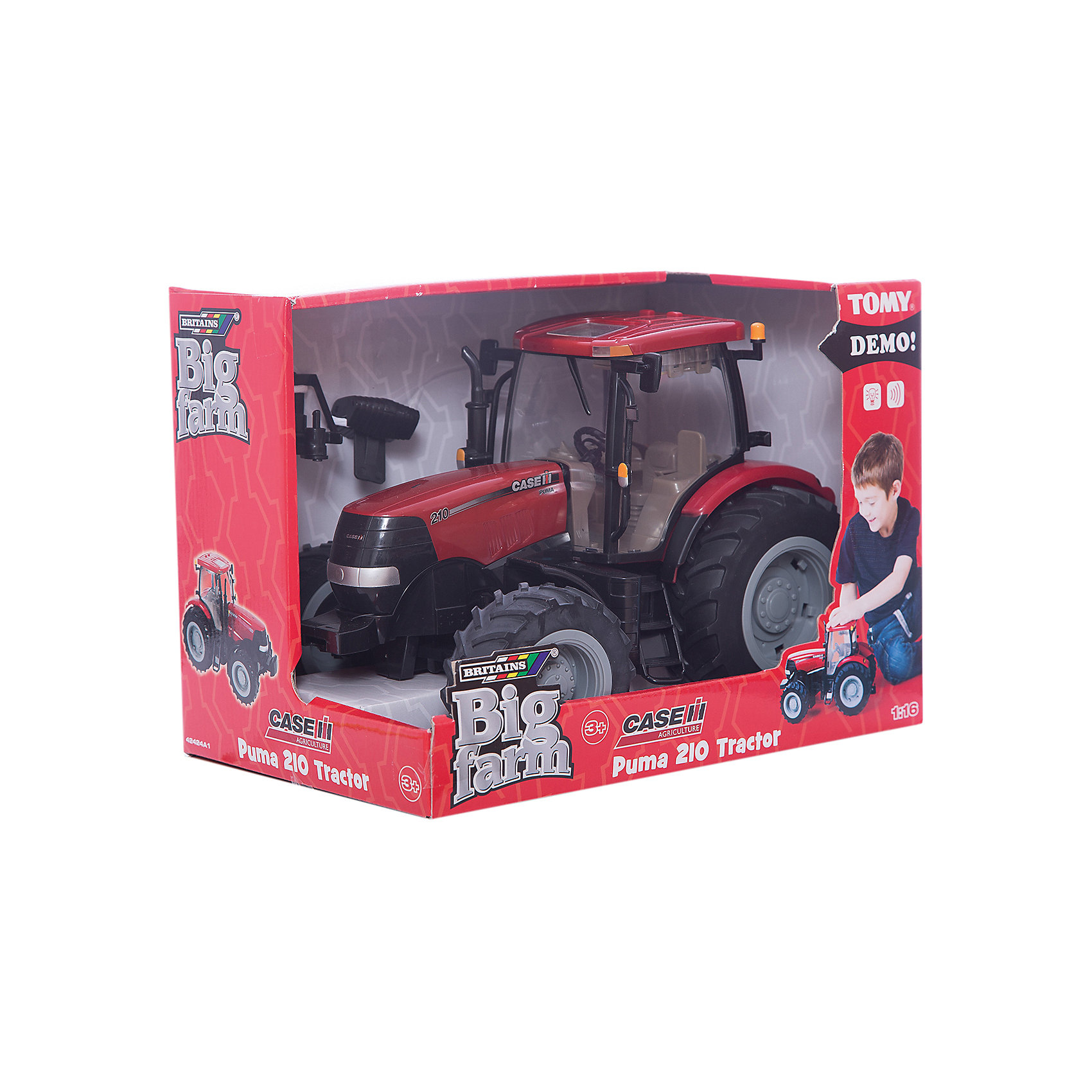 TOMY Трактор Cas IH 210 Puma, TOMY tomy прицеп для самосвала big farm bulk tipping trailer с 3 лет