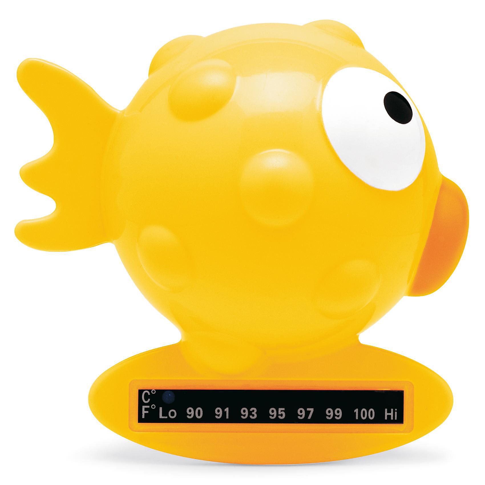 Термометр для ванны 0мес.+ Рыба-Шар, CHICCO, жёлтыйРыба-шар - цифровой термометр для ванны от известного итальянского бренда Chicco(Чикко). Он изготовлен из прочного пластика, безопасного для крохи. Термометр имеет шкалу, которая зеленеет при погружении в воду. Яркая рыбка привлечет внимание крохи, и он с удовольствием поиграет с ней. Множественные пупырышки помогут развить мелкую моторику. С этим термометром каждое купание превратится в веселую игру!<br><br>Дополнительная информация:<br>Материал: пластик<br>Размер: 10х10х7 см<br>Вес: 110 грамм <br>Цвет: желтый<br><br>Вы можете приобрести термометр Рыба-шар от Chicco(Чикко) в нашем интернет-магазине.<br><br>Ширина мм: 202<br>Глубина мм: 157<br>Высота мм: 82<br>Вес г: 167<br>Возраст от месяцев: 6<br>Возраст до месяцев: 36<br>Пол: Унисекс<br>Возраст: Детский<br>SKU: 1737303