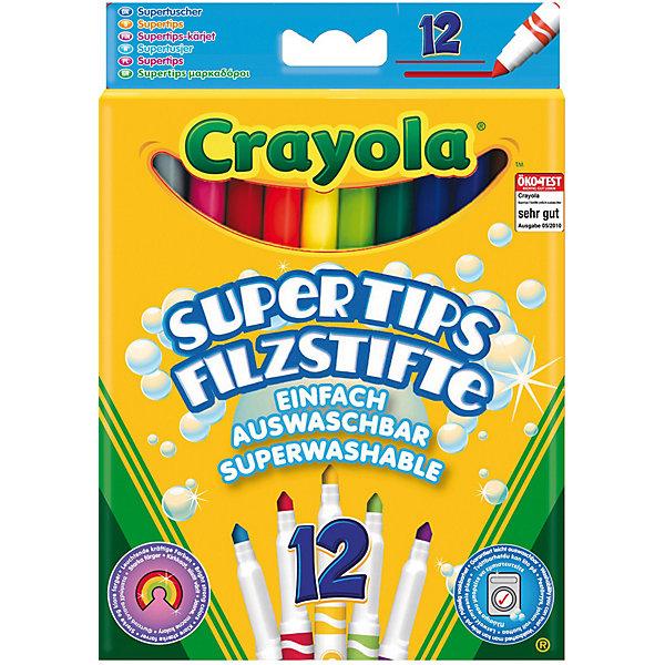 Набор из 12 смываемых фломастеров, CrayolaФломастеры<br>Набор из 12 смываемых фломастеров от Crayola (Крайола) - уникальный набор из фломастеров ярких цветов. Ваш ребёнок окунётся в волшебный мир творчества и будет с удовольствием рисовать.<br><br>Фломастеры имеют качественный состав и легко смываются! Поэтому родители могут не волноваться за одежду малыша и чистоту его рук. Фломастеры абсолютно безопасны. Позвольте своему ребёнку нарисовать свои первые картинки с чудесными фломастерами от Крайола!<br><br>Дополнительная информация:<br>- В комплекте 12 фломастеров<br>- Легко смываются с одежды и детской кожи<br>- Длина фломастера: 15,5 см<br>- Диаметр фломастера: 1 см<br><br>Набор из 12 смываемых фломастеров от Crayola (Крайола) можно купить в нашем интернет-магазине.<br>Ширина мм: 185; Глубина мм: 134; Высота мм: 17; Вес г: 106; Возраст от месяцев: 48; Возраст до месяцев: 144; Пол: Унисекс; Возраст: Детский; SKU: 1755127;