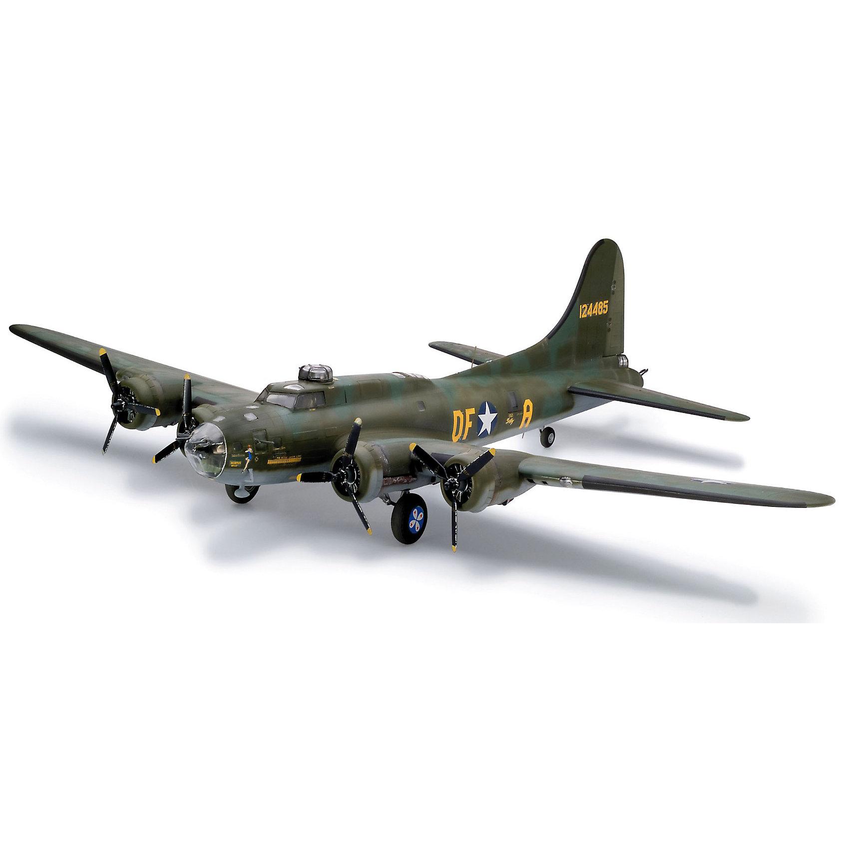 Самолет Boeing B-17F Memphis Belle; 1:48Модели для склеивания<br>Масштаб: 1:48; <br>Количество деталей: 107 шт.; <br>Длина модели: 494 мм.; <br>Размах крыльев: 656 мм; <br>Подойдет для детей старше 10-и лет. <br>Модель самолёта Boeing B-17F Memphis Belle от фирмы Revell является уменьшенной копией одноименного американского бомбардировщика. Впервые произведен в 1942 году в США. Модель станет отличным украшением комнаты и дополнением Вашей коллекции. <br>Технические характеристики настоящего самолета:  <br>Мощность двигателей: 4х882 kW; <br>Максимальная скорость: 526 км/ч; <br>ВНИМАНИЕ: Клей, краски и кисточки приобретаются отдельно.<br><br>Ширина мм: 510<br>Глубина мм: 363<br>Высота мм: 91<br>Вес г: 863<br>Возраст от месяцев: 168<br>Возраст до месяцев: 228<br>Пол: Мужской<br>Возраст: Детский<br>SKU: 1767266