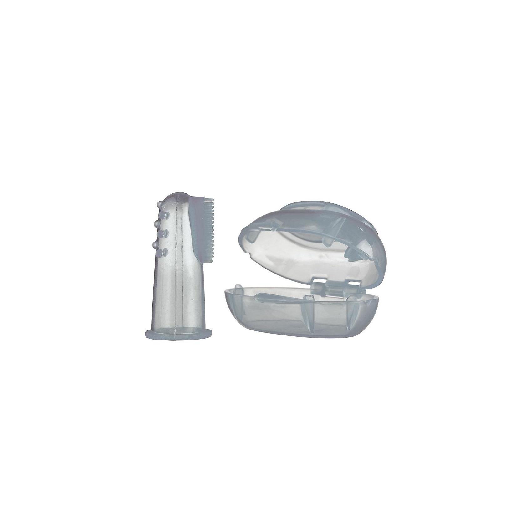 Зубная щетка–напальчник с коробочкой для хранения, NubyЗубные щетки<br>Зубная щетка – напальчник с поверхностью разной структуры разработана для облегчения очищения полости рта, неба, десен и зубов. При этом массаж помогает успокоить десны во время прорезывания зубов.     <br>      <br>Применение:      <br>- Натяните щетку себе на палец, увлажните ее и осторожно используйте ее для очищения и массажа зубов, десен и полости рта.   <br>      <br> - регулярно проверяйте зубную щетку путем растягивания на предмет трещин и прочих повреждений. Если зубная щетка стала пористой или повреждена иным образом, ее следует заменить на новую.    <br>      <br>    <br>Изготовлено из мягкого, гигиеничного силикона.          <br>    <br>В соответствии с ДИРЕКТИВОЙ 2011/8/ЕС КОМИССИИ от 28 января 2011г. не содержит бисфенол А.<br><br>Ширина мм: 145<br>Глубина мм: 96<br>Высота мм: 22<br>Вес г: 30<br>Возраст от месяцев: 3<br>Возраст до месяцев: 36<br>Пол: Унисекс<br>Возраст: Детский<br>SKU: 1769268