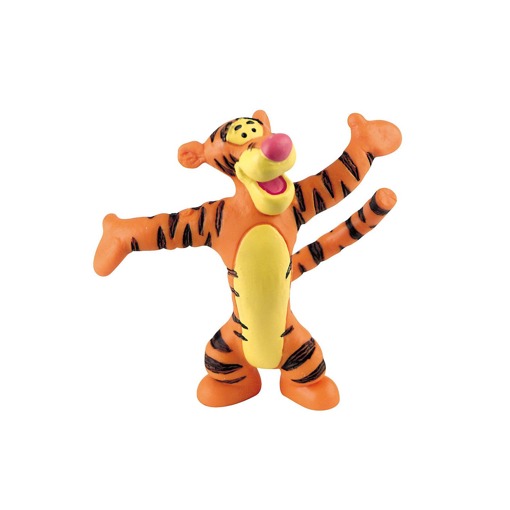 Фигурка Тигруля,  Винни ПухФигурка Тигрули из мультфильма студии Уолта Диснея «Винни-Пух и все, все, все». Замечательный Тигруля очень веселый и находчивый. Он старается никогда не унывать и в любой ситуации видит что-то хорошее. Тигруля очень любит сладкий и душистый Солодовый Экстракт. Кенгуренок Ру - лучший друг Тигрули, они проводят много времени вместе, играя и помогая друг другу. Фигурка персонажа выражает открытую натуру и добрый нрав нашего героя, любящего свой лес и всех, всех, всех в нем.<br>Игрушка выполнена из высококачественных, нетоксичных материалов и безопасна для детей. <br><br>Дополнительная информация:<br><br>Размер:6,5 см <br>Материал: термопластичный каучук высокого качества. <br> <br>Фигурку Тигруля,  Disney можно купить в нашем магазине.<br><br>Ширина мм: 80<br>Глубина мм: 20<br>Высота мм: 80<br>Вес г: 18<br>Возраст от месяцев: 36<br>Возраст до месяцев: 1164<br>Пол: Мужской<br>Возраст: Детский<br>SKU: 1772221