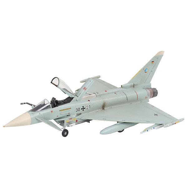 Одноместный истребитель Eurofighter TyphoonСамолеты и вертолеты<br>Характеристики товара:<br><br>• возраст: от 10 лет;<br>• масштаб: 1:72;<br>• количество деталей: 170 шт;<br>• материал: пластик; <br>• клей и краски в комплект не входят;<br>• длина модели: 22 см;<br>• размах крыльев: 15,4 см;<br>• бренд, страна бренда: Revell (Ревел), Германия;<br>• страна-изготовитель: Польша.<br><br>Модель для сборки «Одноместный истребитель Eurofighter Typhoon» поможет вам и вашему ребенку придумать увлекательное занятие на долгое время и весело провести свой досуг. Всего было построено 355 машин. Самолет вооружен 27-мм пушкой Маузер BK-27, кроме того, Eurofighter способен нести ракеты и бомбы общим весом в 6500 кг.<br><br>В набор входят 170 пластиковых деталей, которые помогут воссоздать истребитель. Детали можно собрать и без помощи клея, на защелки, согласно инструкции. Готовый истребитель украсит стол или книжную полку ребенка. Краски и клей в комплект не входят.<br><br>Процесс сборки развивает интеллектуальные и инструментальные способности, воображение и конструктивное мышление, а также прививает практические навыки работы со схемами и чертежами. <br><br>Модель для сборки «Одноместный истребитель Eurofighter Typhoon», 170 дет., Revell (Ревел) можно купить в нашем интернет-магазине.<br>Ширина мм: 351; Глубина мм: 212; Высота мм: 44; Вес г: 310; Возраст от месяцев: 168; Возраст до месяцев: 1164; Пол: Мужской; Возраст: Детский; SKU: 1772635;
