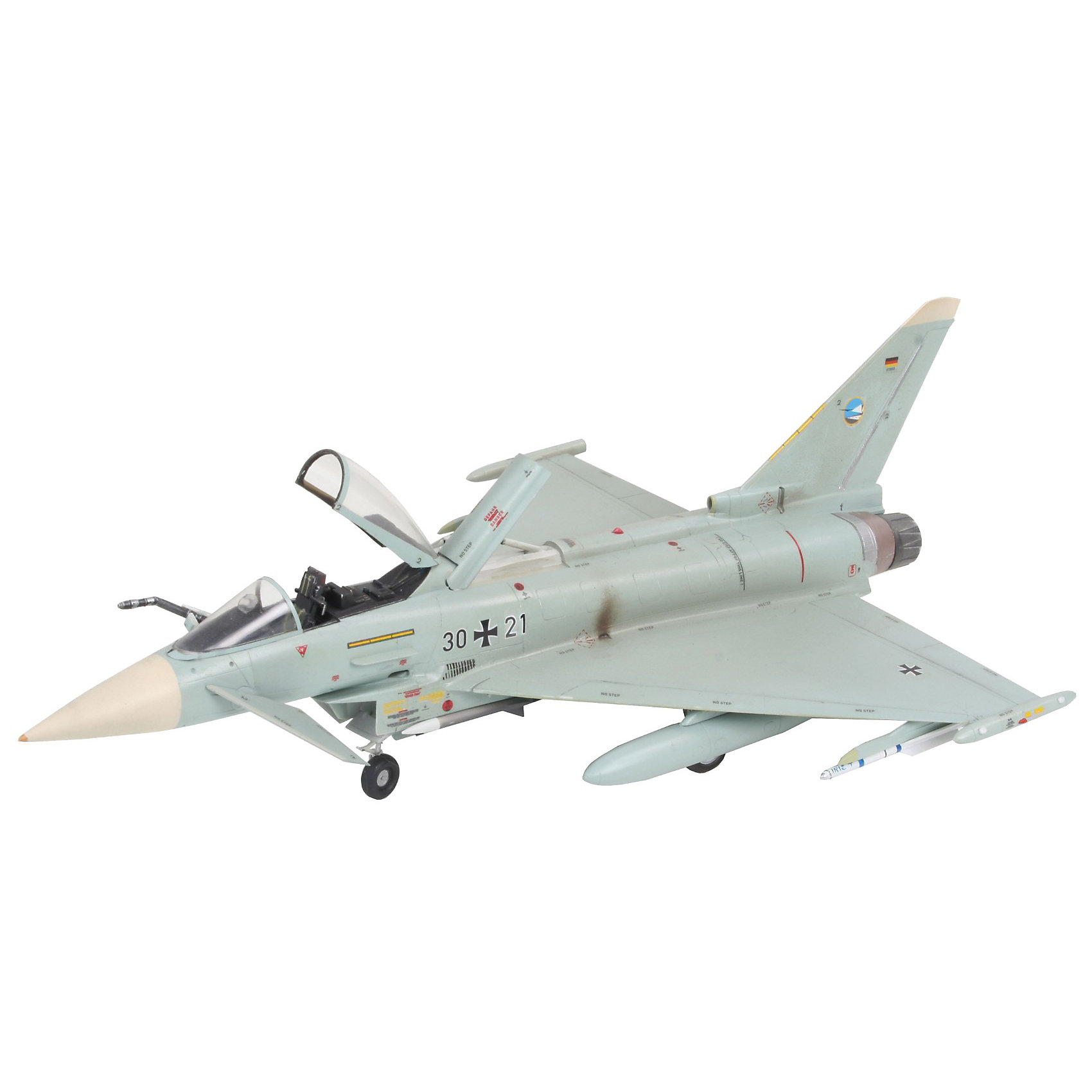 Одноместный истребитель Eurofighter TyphoonМодели для склеивания<br>Модель многоцелевого самолета Eurofighter Typhoon. Опытный образец самолета четвертого поколения впервые поднялся в воздух в 1994 году. С 2003 года Eurofighter стал поступать в эскадрильи ВВС ряда европейских стран. Всего было построено 355 машин <br>Самолет вооружен 27-мм пушкой Маузер BK-27. Кроме того, Eurofighter способен нести ракеты и бомбы общим весом в 6500 кг <br>Масштаб: 1:72 <br>Количество деталей: 170 <br>Длина модели: 220 мм <br>Размах крыльев: 154 мм <br>Подойдет для детей старше 10-и лет <br>Клей и краски в комплект не входят.<br><br>Ширина мм: 351<br>Глубина мм: 212<br>Высота мм: 44<br>Вес г: 310<br>Возраст от месяцев: 168<br>Возраст до месяцев: 1164<br>Пол: Мужской<br>Возраст: Детский<br>SKU: 1772635