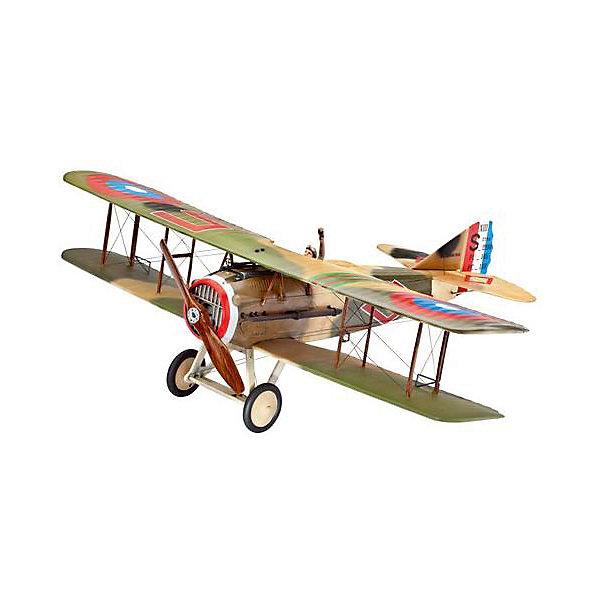 Истребитель Spad XIIIСамолеты и вертолеты<br>Характеристики товара:<br><br>• возраст: от 10 лет;<br>• цвет: белый;<br>• масштаб: 1:28;<br>• количество деталей: 63 шт;<br>• материал: пластик; <br>• клей и краски в комплект не входят;<br>• длина модели: 23 см;<br>• размах крыльев: 30 см;<br>• бренд, страна бренда: Revell (Ревел), Германия;<br>• страна-изготовитель: Корея.<br><br>Сборная модель «Истребитель Spad XIII» поможет вам и вашему ребеноку собрать точную копию реального американского самолета, выполненную в масштабе 1:28 из высококачественного пластика.<br><br>В комплект набора для склеивания и раскрашивания входит: 80 пластиковых деталей, декаль с наклейками. А также подробная иллюстрирована инструкция. Обращаем ваше внимание на тот факт, что для сборки этой модели клей и краски в комплект не входят. <br><br>Моделирование — это очень увлекательное и полезное занятие, которое по достоинству оценят не только дети, но и взрослые, увлекающиеся военной техникой. Сборка моделей поможет ребенку развить воображение, мелкую моторику ручек и логическое мышление.<br><br>Сборную модель «Истребитель Spad XIII», 80 дет., Revell (Ревел) можно купить в нашем интернет-магазине.<br>Ширина мм: 368; Глубина мм: 238; Высота мм: 59; Вес г: 350; Возраст от месяцев: -2147483648; Возраст до месяцев: 2147483647; Пол: Унисекс; Возраст: Детский; SKU: 1772761;