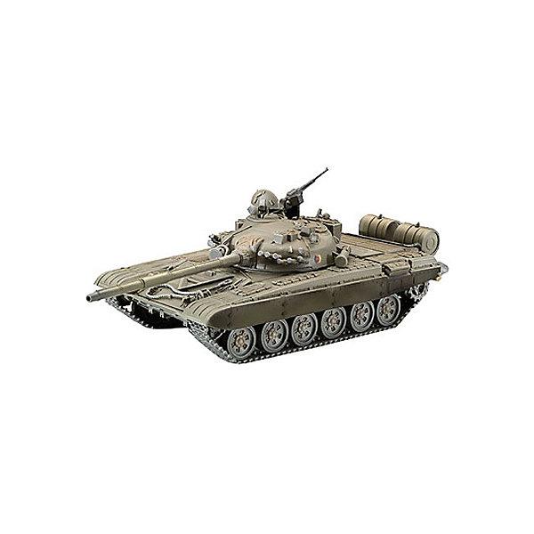 Советский танк T-72M (1/72)Военная техника и панорама<br>Характеристики товара:<br><br>• возраст: от 10 лет;<br>• масштаб: 1:72;<br>• количество деталей: 161 шт;<br>• материал: пластик; <br>• клей и краски в комплект не входят;<br>• длина модели: 14 см;<br>• бренд, страна бренда: Revell (Ревел), Германия;<br>• страна-изготовитель: Польша.<br><br>Сборная модель «Советский танк T-72M» поможет вам и вашему ребенку из деталей в наборе вы воспроизвести точную копию самого массового танка второго поколения. Всего было выпущено около 30 тысяч экземпляров. <br><br>В комплект набора для склеивания и раскрашивания входит 161 пластиковая деталь, а также подробная иллюстрированая инструкция. Обращаем ваше внимание на тот факт, что для сборки этой модели клей и краски в комплект не входят. <br><br>Моделирование — это очень увлекательное и полезное занятие, которое по достоинству оценят не только дети, но и взрослые, увлекающиеся военной техникой. Сборка моделей поможет ребенку развить воображение, мелкую моторику ручек и логическое мышление.<br><br>Сборную модель «Советский танк T-72M», 161 дет., Revell (Ревел) можно купить в нашем интернет-магазине.<br>Ширина мм: 243; Глубина мм: 158; Высота мм: 36; Вес г: 190; Возраст от месяцев: 168; Возраст до месяцев: 2147483647; Пол: Унисекс; Возраст: Детский; SKU: 1772776;
