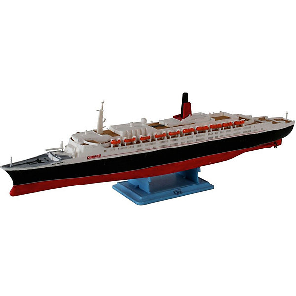 Пароход Queen Elizabeth IIКорабли и лодки<br>Характеристики товара:<br><br>• возраст: от 10 лет;<br>• масштаб: 1:1200<br>• количество деталей: 36 шт;<br>• материал: пластик; <br>• клей и краски в комплект не входят;<br>• длина модели: 24,4 см;<br>• бренд, страна бренда: Revell (Ревел),Германия;<br>• страна-изготовитель: Китай.<br><br>Сборная модель «Пароход Queen Elizabeth II» поможет вам и вашему ребенку придумать увлекательное занятие на долгое время. Буксир выполнен в масштабе 1:1200. Игрушка имеет высокую степень детализации, что делает ее точной копией настоящего морского судна. Портовый буксир используется для траспортировки груза на небольшие расстояния в порту.<br><br>Набор для склеивания включает в себя 36 пластиковых элементов, а также подробную инструкцию. Готовый пароход можно установить на подставку, входящую в набор, и он украсит стол или книжную полку ребенка. Обращаем ваше внимание на тот факт, что для сборки этой модели клей и краски в комплект не входят. <br><br>Процесс сборки развивает интеллектуальные и инструментальные способности, воображение и конструктивное мышление, а также прививает практические навыки работы со схемами и чертежами.<br><br>Сборную модель «Пароход Queen Elizabeth II», 36 дет., Revell (Ревел) можно купить в нашем интернет-магазине.<br><br>Ширина мм: 252<br>Глубина мм: 132<br>Высота мм: 35<br>Вес г: 150<br>Возраст от месяцев: -2147483648<br>Возраст до месяцев: 2147483647<br>Пол: Унисекс<br>Возраст: Детский<br>SKU: 1772851