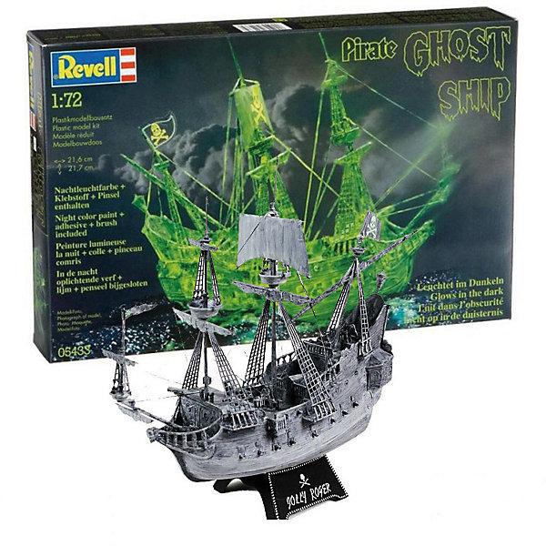 Корабль-призрак в ночном цвете , 1:72, (3)Корабли и подводные лодки<br>Характеристики товара:<br><br>• возраст: от 10 лет;<br>• масштаб: 1:72;<br>• количество деталей: 96 шт;<br>• материал: пластик; <br>• клей и краски в комплект не входят;<br>• длина модели: 21,7 см;<br>• высота модели: 21,6 см;<br>• бренд, страна бренда: Revell (Ревел),Германия;<br>• страна-изготовитель: Китай.<br><br>Сборная модель «Корабль-призрак в ночном цвете» поможет вам и вашему ребенку придумать увлекательное занятие на долгое время и окунуться в романтический мир пиратства. <br><br>Набор для склеивания включает в себя 96 пластиковых элементов, нити для такелажа, а также подробную инструкцию. Благодаря специальным компонентам модель светится в темноте. Обращаем ваше внимание на тот факт, что для сборки этой модели клей и краски в комплект не входят. <br><br>Процесс сборки развивает интеллектуальные и инструментальные способности, воображение и конструктивное мышление, а также прививает практические навыки работы со схемами и чертежами.<br><br>Сборную модель «Корабль-призрак в ночном цвете», 96 дет., Revell (Ревел) можно купить в нашем интернет-магазине.<br>Ширина мм: 368; Глубина мм: 238; Высота мм: 59; Вес г: 340; Возраст от месяцев: -2147483648; Возраст до месяцев: 2147483647; Пол: Унисекс; Возраст: Детский; SKU: 1772852;