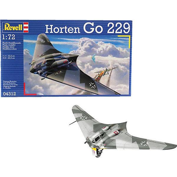 Самолет Horten Go-229 (1:72)Самолеты и вертолеты<br>Характеристики товара:<br><br>• возраст: от 10 лет;<br>• масштаб: 1:72;<br>• количество деталей: 70 шт;<br>• материал: пластик; <br>• клей и краски в комплект не входят;<br>• длина модели: 10,5 см;<br>• размах крыльев: 23,2 см;<br>• бренд, страна бренда: Revell (Ревел),Германия;<br>• страна-изготовитель: Китай.<br><br>Сборная модель для склеивания «Самолет Horten Go-229» поможет вам и вашему ребенку придумать увлекательное занятие на долгое время и заполнит досуг веселой игрой. <br><br>Набор включает в себя 70 элементов из высококачественного пластика, а также схему для окрашивания модели и инструкция, с помощью которых можно собрать достоверную уменьшенную копию реалистичного немецкого самолета.<br> <br>Процесс сборки развивает интеллектуальные и инструментальные способности, воображение и конструктивное мышление, а также прививает практические навыки работы со схемами и чертежами. <br>Обращаем ваше внимание на тот факт, что для сборки этой модели клей и краски в комплект не входят. <br><br>Сборную модель для склеивания «Самолет Horten Go-229», 70 дет., Revell (Ревел) можно купить в нашем интернет-магазине.<br>Ширина мм: 311; Глубина мм: 183; Высота мм: 46; Вес г: 200; Возраст от месяцев: -2147483648; Возраст до месяцев: 2147483647; Пол: Унисекс; Возраст: Детский; SKU: 1772869;