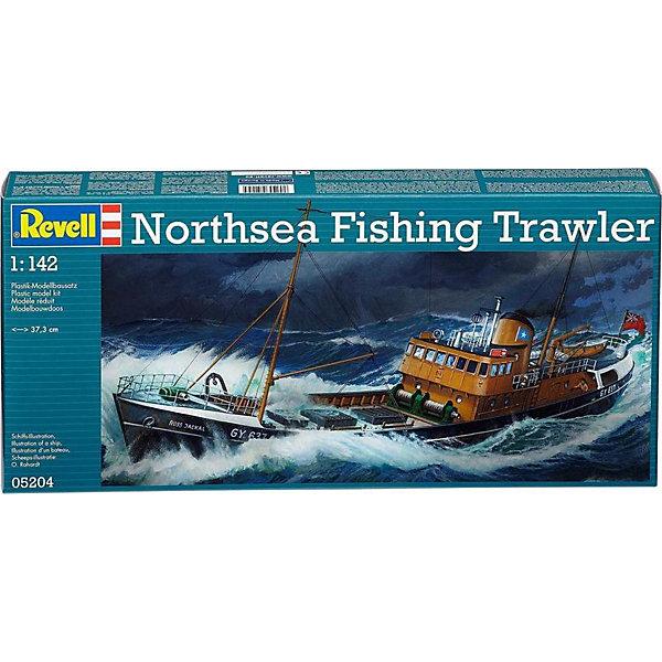 Североморский промысловый траулерКорабли и подводные лодки<br>Характеристики товара:<br><br>• возраст: от 8 лет;<br>• масштаб: 1:142<br>• количество деталей: 60 шт;<br>• материал: пластик; <br>• клей и краски в комплект не входят;<br>• длина модели: 37,3 см;<br>• бренд, страна бренда: Revell (Ревел),Германия;<br>• страна-изготовитель: Китай.<br><br>Сборная модель «Североморский промысловый траулер» поможет вам и вашему ребенку придумать увлекательное занятие на долгое время. Корабль выполнен в масштабе 1:142. Игрушка имеет высокую степень детализации, что делает ее точной копией настоящего морского судна. Передняя мачта, грузовые люки и даже капитанский мостик. Ребенок почувствует себя морским волком.<br><br>Набор для склеивания включает в себя 60 пластиковых элементов, декаль с наклейками, нити для такелажа, а также подробная инструкция. Обращаем ваше внимание на тот факт, что для сборки этой модели клей и краски в комплект не входят. <br><br>Процесс сборки развивает интеллектуальные и инструментальные способности, воображение и конструктивное мышление, а также прививает практические навыки работы со схемами и чертежами.<br><br>Сборную модель «Североморский промысловый траулер», 60 дет., Revell (Ревел) можно купить в нашем интернет-магазине.<br><br>Ширина мм: 456<br>Глубина мм: 210<br>Высота мм: 72<br>Вес г: 397<br>Возраст от месяцев: 120<br>Возраст до месяцев: 180<br>Пол: Мужской<br>Возраст: Детский<br>SKU: 1772941