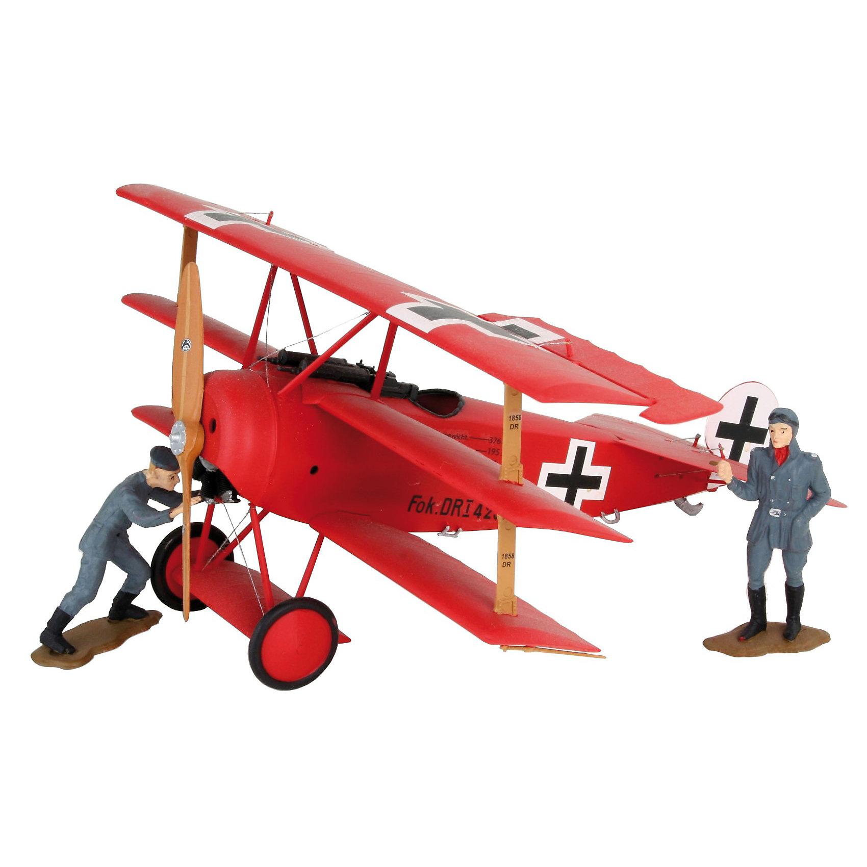 Маневренный военный самолет Fokker Dr.I RichthofenМодели для склеивания<br>Характеристики товара:<br><br>• возраст: от 10 лет;<br>• масштаб: 1:28;<br>• количество деталей: 66 шт;<br>• материал: пластик; <br>• клей и краски в комплект не входят;<br>• длина модели: 10,5 см;<br>• размах крыльев: 6,6 см;<br>• бренд, страна бренда: Revell (Ревел),Германия;<br>• страна-изготовитель: Китай.<br><br>Сборная модель для склеивания «Маневренный военный самолет Fokker Dr.I Richthofen» поможет вам и вашему ребенку придумать увлекательное занятие на долгое время и заполнит досуг веселой игрой. <br><br>Набор включает в себя 66 элементов из высококачественного пластика, а также схему для окрашивания модели и инструкция, с помощью которых можно собрать достоверную уменьшенную копию настоящего самолета.<br> <br>Процесс сборки развивает интеллектуальные и инструментальные способности, воображение и конструктивное мышление, а также прививает практические навыки работы со схемами и чертежами. <br>Обращаем ваше внимание на тот факт, что для сборки этой модели клей и краски в комплект не входят. <br><br>Сборную модель для склеивания «Маневренный военный самолет Fokker Dr.I Richthofen», 66 дет., Revell (Ревел) можно купить в нашем интернет-магазине.<br><br>Ширина мм: 368<br>Глубина мм: 238<br>Высота мм: 59<br>Вес г: 300<br>Возраст от месяцев: 168<br>Возраст до месяцев: 1164<br>Пол: Мужской<br>Возраст: Детский<br>SKU: 1772946