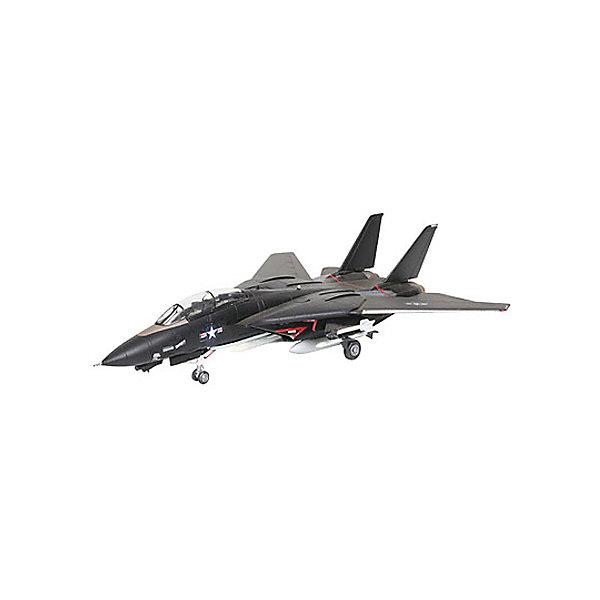 Военный самолет F-14 Tomcat Black BunnyМодели для склеивания<br>Характеристики товара:<br><br>• возраст: от 10 лет;<br>• масштаб: 1:144;<br>• количество деталей: 49 шт;<br>• материал: пластик; <br>• клей и краски в комплект не входят;<br>• длина модели: 13,4 см;<br>• размах крыльев: 13 см;<br>• бренд, страна бренда: Revell (Ревел), Германия;<br>• страна-изготовитель: Польша.<br><br>Модель для сборки «Военный самолет F-14 Tomcat Black Bunny» поможет вам и вашему ребенку придумать увлекательное занятие на долгое время и весело провести свой досуг. <br><br>Модель отличается изменяемой действующей геометрией крыла, наличием внутренней расшивки и высоко детализированной поверхностью. Шасси самолета могут быть установлено в двух положениях. <br><br>В комплект вооружения входит 2 управляемые ракеты Sidewinder, а также 6 управляемых ракет Phoenix. Данная сборная модель военного самолета состоит из 49 деталей.  Готовый истребитель украсит стол или книжную полку ребенка. Краски и клей в комплект не входят.<br><br>Процесс сборки развивает интеллектуальные и инструментальные способности, воображение и конструктивное мышление, а также прививает практические навыки работы со схемами и чертежами. <br><br>Модель для сборки «Военный самолет F-14 Tomcat Black Bunny», 49 дет., Revell (Ревел) можно купить в нашем интернет-магазине.<br><br>Ширина мм: 207<br>Глубина мм: 132<br>Высота мм: 34<br>Вес г: 110<br>Возраст от месяцев: -2147483648<br>Возраст до месяцев: 2147483647<br>Пол: Унисекс<br>Возраст: Детский<br>SKU: 1772959