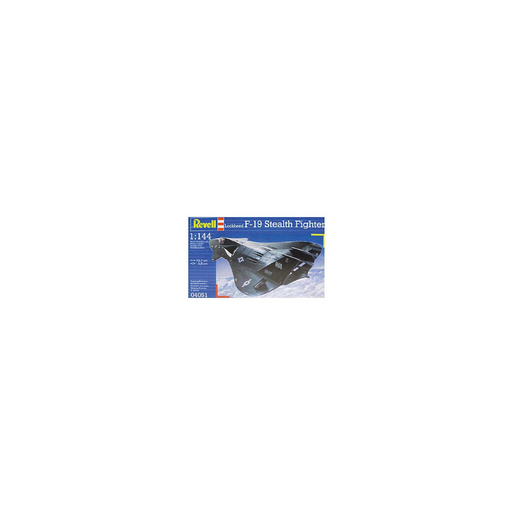Истребитель F-19 Stealth, 1:144, (3)Модели для склеивания<br>Сборная модель истребителя F-19 Stealth изготовлена в масштабе 1:144, ее  длина составляет 10,7 см, размах крыльев  равен 5,8 см. Модель отличается высокой степенью детализации поверхности. Шасси истребителя могут быть установлены в двух положениях. Модель оснащена проработанной деколью. В комплект сборной модели истребителя F-19 Stealth включены 29 деталей, она относится ко второму из пяти существующих уровней сложности сборки. <br>ВНИМАНИЕ: Клей и краски в комплект не входят.<br><br>Ширина мм: 9999<br>Глубина мм: 9999<br>Высота мм: 9999<br>Вес г: 9999<br>Возраст от месяцев: -2147483648<br>Возраст до месяцев: 2147483647<br>Пол: Унисекс<br>Возраст: Детский<br>SKU: 1772969