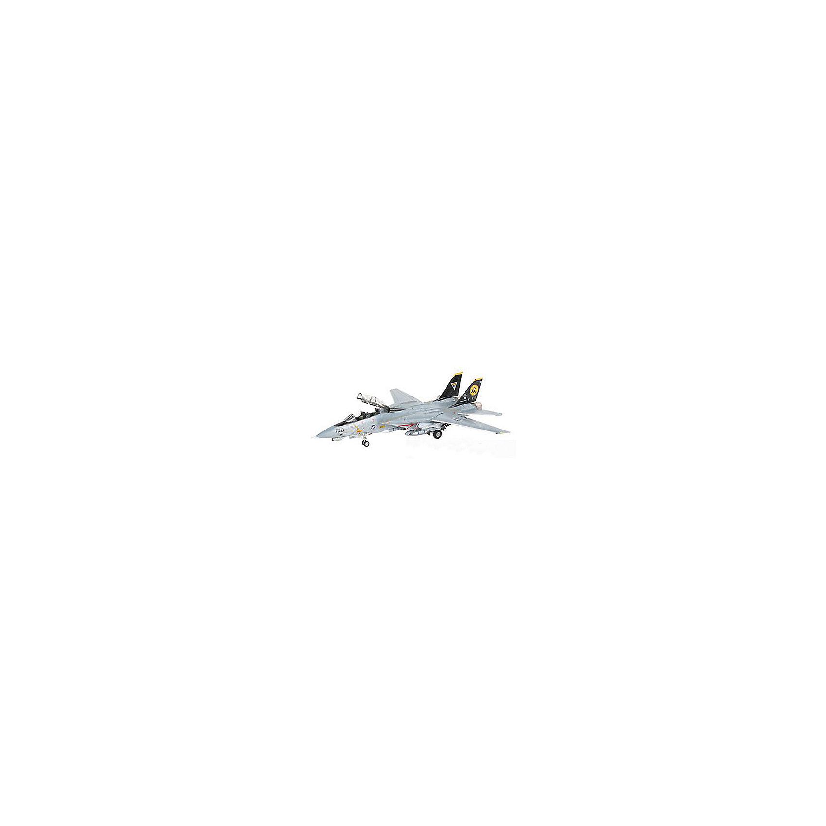 Истребитель F-14D Super Tomcat (1:144)Модели для склеивания<br>Характеристики товара:<br><br>• возраст: от 10 лет;<br>• масштаб: 1:144;<br>• количество деталей: 57 шт;<br>• материал: пластик; <br>• клей и краски в комплект не входят;<br>• длина модели: 13,4 см;<br>• размах крыльев: 13 см;<br>• бренд, страна бренда: Revell (Ревел), Германия;<br>• страна-изготовитель: Польша.<br><br>Набор для сборки «Истребитель F-14D Super Tomcat» поможет вам и вашему ребенку придумать увлекательное занятие на долгое время и весело провести свой досуг. Модель отличается высокой степенью детализации поверхности. Шасси истребителя могут быть установлены в двух положениях. Модель оснащена проработанной деколью.<br><br>В набор входят 57 пластиковых деталей, которые помогут воссоздать истребитель. Детали можно собрать и без помощи клея, на защелки, согласно инструкции. Готовый истребитель украсит стол или книжную полку ребенка. Краски и клей в комплект не входят.<br><br>Процесс сборки развивает интеллектуальные и инструментальные способности, воображение и конструктивное мышление, а также прививает практические навыки работы со схемами и чертежами.<br><br>Набор для сборки «Истребитель F-14D Super Tomcat », 57 дет., Revell (Ревел) можно купить в нашем интернет-магазине.<br><br>Ширина мм: 9999<br>Глубина мм: 9999<br>Высота мм: 9999<br>Вес г: 9999<br>Возраст от месяцев: -2147483648<br>Возраст до месяцев: 2147483647<br>Пол: Унисекс<br>Возраст: Детский<br>SKU: 1772973