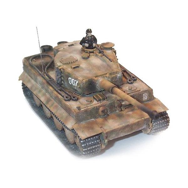 Танк PzKpfw VI Tiger, 1:72, (3)Военная техника и панорама<br>Характеристики товара:<br><br>• возраст: от 10 лет;<br>• масштаб: 1:72;<br>• количество деталей: 224 шт;<br>• материал: пластик; <br>• клей и краски в комплект не входят;<br>• длина модели: 11,8 см;<br>• бренд, страна бренда: Revell (Ревел), Германия;<br>• страна-изготовитель: Польша.<br><br>Сборная модель «Танк PzKpfw VI Tiger» поможет вам и вашему ребенку из деталей в наборе вы воспроизвести точную копию немецкой боевой машины в масштабе 1:72. Считается самым дорогим танком Второй мировой войны. Затраты на его производство в два раза превышали затраты на любой другой танк.<br><br>В комплект набора для склеивания и раскрашивания входит 6 пластиковых деталей, а также подробная иллюстрированая инструкция. Обращаем ваше внимание на тот факт, что для сборки этой модели клей и краски в комплект не входят. <br><br>Моделирование — это очень увлекательное и полезное занятие, которое по достоинству оценят не только дети, но и взрослые, увлекающиеся военной техникой. Сборка моделей поможет ребенку развить воображение, мелкую моторику ручек и логическое мышление.<br><br>Сборную модель «Танк PzKpfw VI Tiger», 6 дет., Revell (Ревел) можно купить в нашем интернет-магазине.<br>Ширина мм: 243; Глубина мм: 158; Высота мм: 36; Вес г: 150; Возраст от месяцев: 168; Возраст до месяцев: 1188; Пол: Мужской; Возраст: Детский; SKU: 1772987;