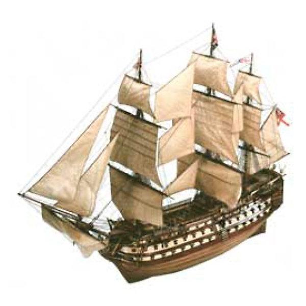 Парусник H.M.S Victory, 1:146, (5)Корабли и подводные лодки<br>Характеристики товара:<br><br>• возраст: от 10 лет;<br>• масштаб: 1:225;<br>• количество деталей: 269 шт;<br>• материал: пластик; <br>• клей и краски в комплект не входят;<br>• длина модели: 40 см;<br>• высота модели: 33 см;<br>• бренд, страна бренда: Revell (Ревел),Германия;<br>• страна-изготовитель: Китай.<br><br>Сборная модель «Парусник H.M.S Victory» поможет вам и вашему ребенку придумать увлекательное занятие на долгое время. Парусник выполнен в масштабе 1:225. Игрушка имеет высокую степень детализации, что делает ее точной копией настоящего морского судна. <br><br>Модель линейного корабля первого ранга Королевского флота Великобритании HMS Victory. Флагман адмирала Нельсона в битве при Трафальгаре. На борту этого судна прославленный британский адмирал получил смертельное ранение. С 1812 года HMS Victory не принимал участия в сражениях. Сейчас он находится на постоянной стоянке в доке города Портсмут. Корабль переделан в музей. <br><br>Набор для склеивания включает в себя 269 пластиковыйх элементов, декаль с наклейками, нити для такелажа, а также подробную инструкцию. Обращаем ваше внимание на тот факт, что для сборки этой модели клей и краски в комплект не входят. <br><br>Процесс сборки развивает интеллектуальные и инструментальные способности, воображение и конструктивное мышление, а также прививает практические навыки работы со схемами и чертежами.<br><br>Сборную модель «Парусник H.M.S Victory», 171 дет., Revell (Ревел) можно купить в нашем интернет-магазине.<br>Ширина мм: 389; Глубина мм: 248; Высота мм: 78; Вес г: 467; Возраст от месяцев: 168; Возраст до месяцев: 228; Пол: Мужской; Возраст: Детский; SKU: 1773062;