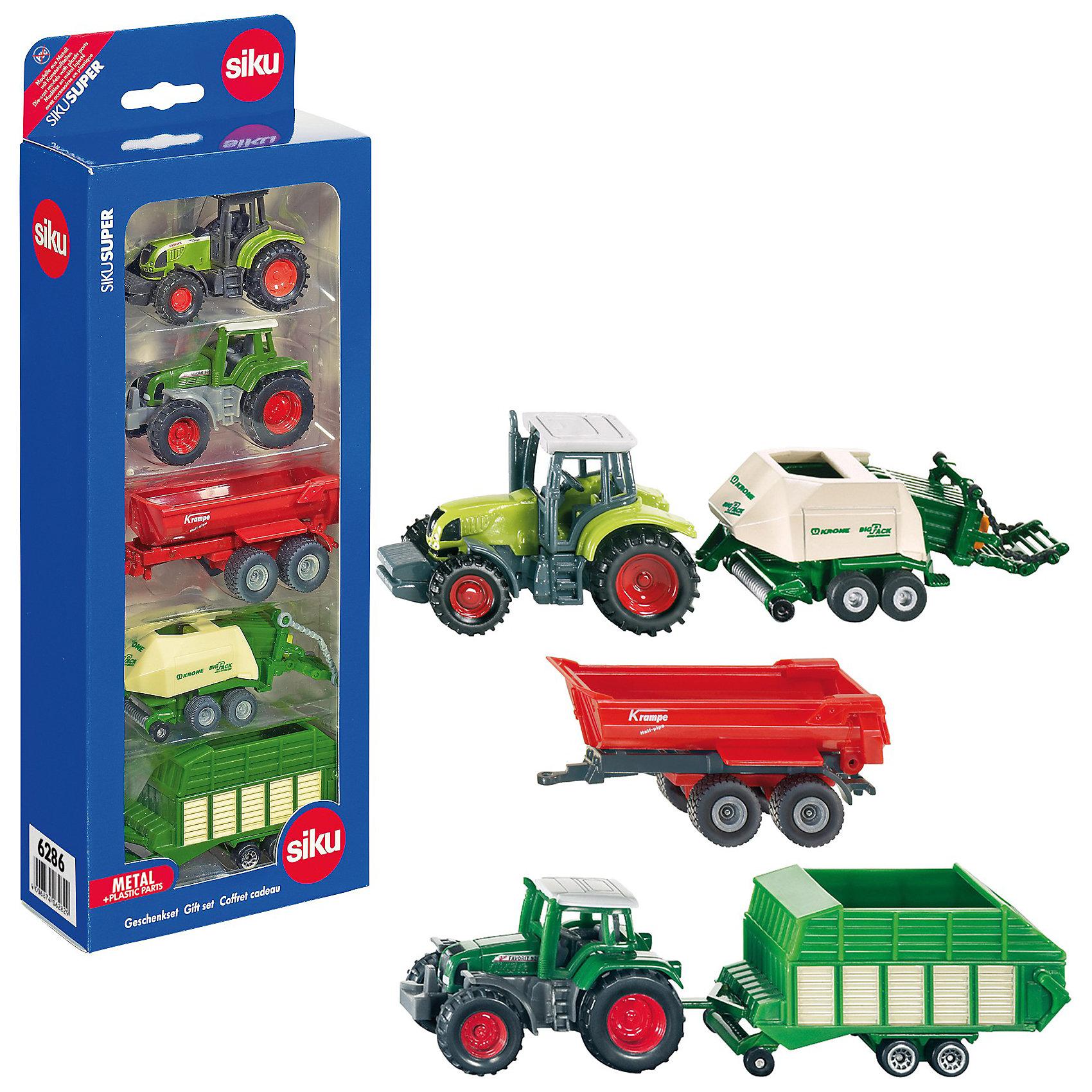 SIKU SIKU 6286 Подарочный набор сельскохозяйственной техники автомобиль siku бугатти eb 16 4 1 55 красный 1305