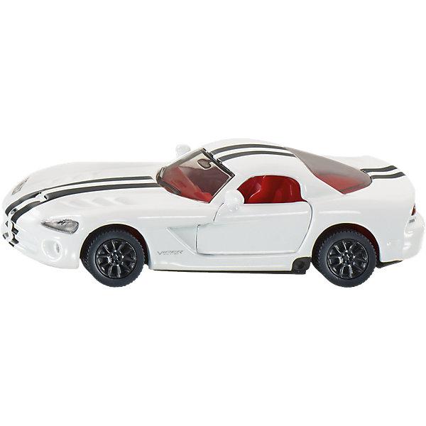 SIKU 1434 Dodge ViperМашинки<br>10 цилиндров и объем двигателя более 8 литров говорят сами за себя. Viper – это настоящий зверь среди американских спортивных машин. Его агрессивные формы в сочетании с особо широкими шинами превращают этот автомобиль в короля любой коллекции и любой детской комнаты. Тонкая гравировка, вставные фары из пластмассы и двери завершают образ этого мощного монстра.<br><br>Д/Ш/В: 81x35x23 мм<br><br>+++Примечание+++<br>Фирма SIKU оставляет за собой право на изменение цвета и технических характеристик моделей. При демонстрации новинок в ряде случаев используются оригинальные фотографии и прототипы. Поставляемая модель может отличаться от представленной на фотографии.<br>Ширина мм: 95; Глубина мм: 78; Высота мм: 40; Вес г: 51; Возраст от месяцев: 36; Возраст до месяцев: 96; Пол: Мужской; Возраст: Детский; SKU: 1779790;