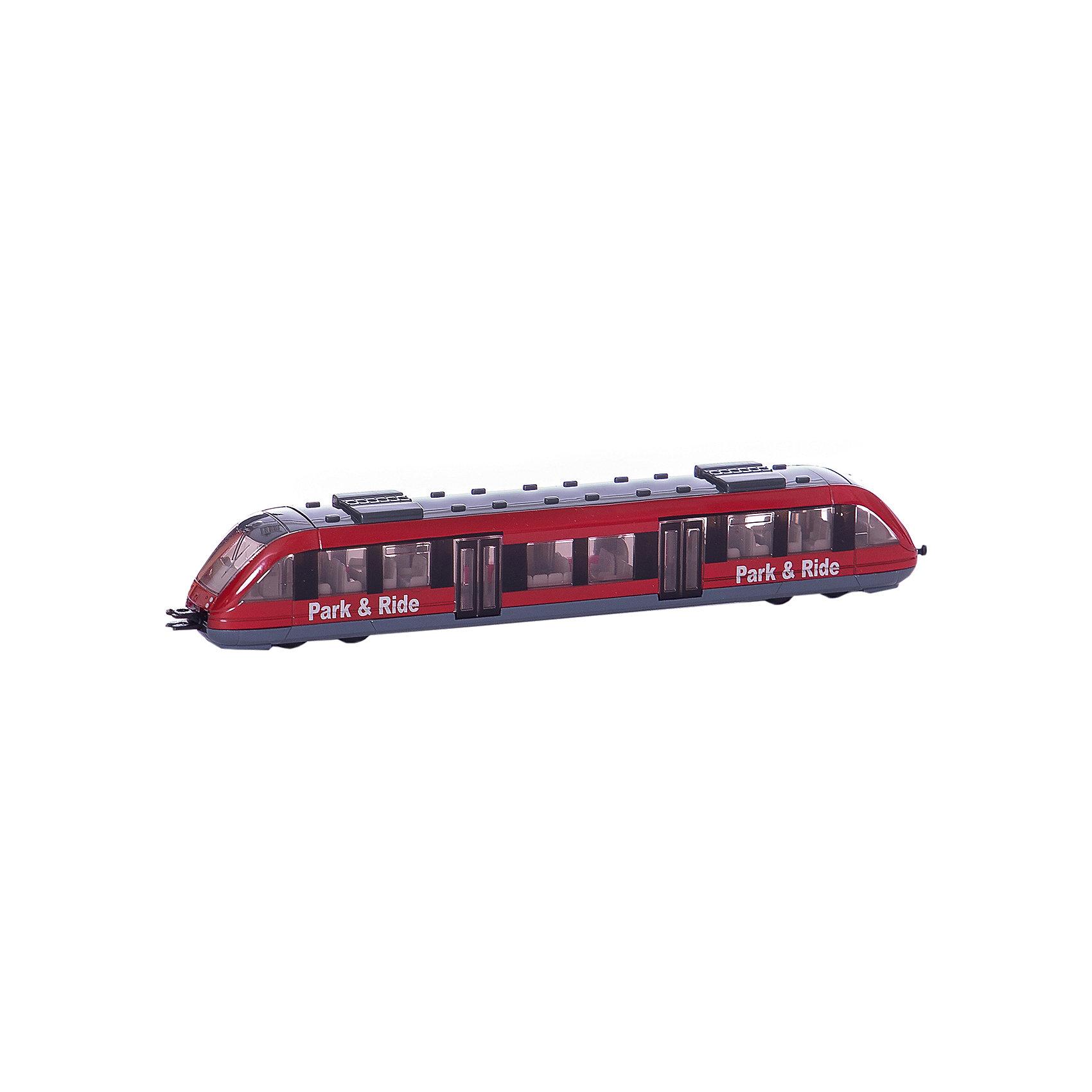 SIKU 1646 Пригородный поездМашинки<br>SIKU (СИКУ) 1646 Пригородный поезд. В коллекции игрушек SIKU (СИКУ) можно найти не только автомодели, но и модели железнодорожного транспорта. Например, точную копию пригородной электрички.<br><br>Корпус выполнен из металла, снизу предусмотрены маленькие колёса-поезд можно катать. Несмотря на свои небольшие размеры, модель отличается высоким уровнем детализации. Стекла пригородного поезда SIKU (СИКУ) прозрачны, поэтому в вагонах поезда видны многочисленные пассажирские сиденья, а в двух кабинах машиниста-пульты управления и водительские кресла. В передней и задней части поезда расположены пластиковые сцепки, с помощью которых поезд можно соединять с другими пригородными электричками SIKU (СИКУ), выполненными в том же мини-масштабе.<br><br>Дополнительная информация:<br><br>- Размер: 16,5 x 2,8 x 2,8 см<br>- Масштаб 1:50<br>- Материал: металл с элементами пластмассы<br>- Двери поезда не открывются<br><br>Игровая модель пригородного поезда станет отличным дополнением к маленькому городу. Игра с моделями SIKU (СИКУ) развивает воображение, мышление, память, мелкую моторику рук и координацию движений детей.<br><br>SIKU (СИКУ) 1646 Пригородный поезд можно купить в нашем магазине.<br><br>Ширина мм: 196<br>Глубина мм: 76<br>Высота мм: 27<br>Вес г: 98<br>Возраст от месяцев: 36<br>Возраст до месяцев: 96<br>Пол: Мужской<br>Возраст: Детский<br>SKU: 1779792