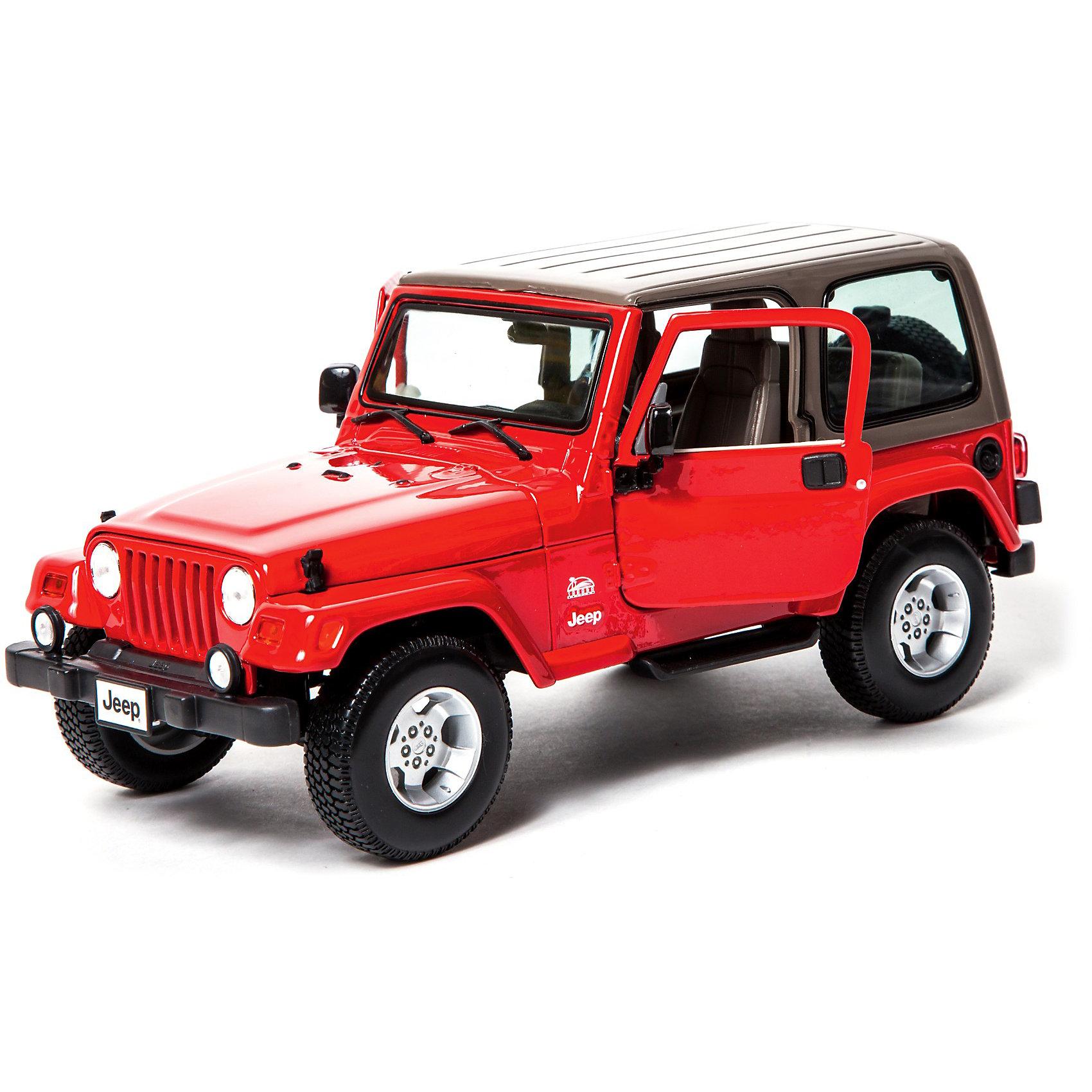 Машина Jeep Wrangler Sahara металл., 1:18, BburagoМашинки<br>Машина Jeep Wrangler Sahara металл., 1:18, Bburago (Бураго)<br>Компания Bburago – мировой лидер в производстве коллекционных  моделей автомобилей.  <br>Более 30 лет профессиональные дизайнеры Bburago разрабатывают точные копии современных машин и ретро машин известных марок.  <br><br>JEEP WRANGLER SAHARA  –  настоящий внедорожник, который подходит как для городского, так и загородного режима движения.  <br>Уверенность в способности «пройти любым путем и справиться с любой задачей» - врожденное качество любой раздаточной коробки, созданной под брендом JEEP.<br><br>Функциональность игрушки:<br>- двухместная  модель внедорожника создана в масштабе 1:18<br>- у модели крутится руль, открываются двери и капот<br><br>Не важно, что ждет вас впереди – просто смело продолжайте движение вместе с JEEP WRANGLER SAHARA!<br><br>Дополнительная информация:<br><br>- Материал: Металл<br>- Размеры упаковки: 29, 6 х 20 х 12 см<br>- Вес: 1,03 кг.<br><br>ВНИМАНИЕ! Данный артикул имеется в наличии в разных цветовых исполнениях (красный, светлый хаки). К сожалению, заранее выбрать определенный цвет невозможно. <br><br>Игрушку Машина Jeep Wrangler Sahara металл., 1:18, Bburago можно купить в нашем интернет-магазине.<br><br>Ширина мм: 183<br>Глубина мм: 302<br>Высота мм: 124<br>Вес г: 1167<br>Возраст от месяцев: 72<br>Возраст до месяцев: 1200<br>Пол: Мужской<br>Возраст: Детский<br>SKU: 1784037