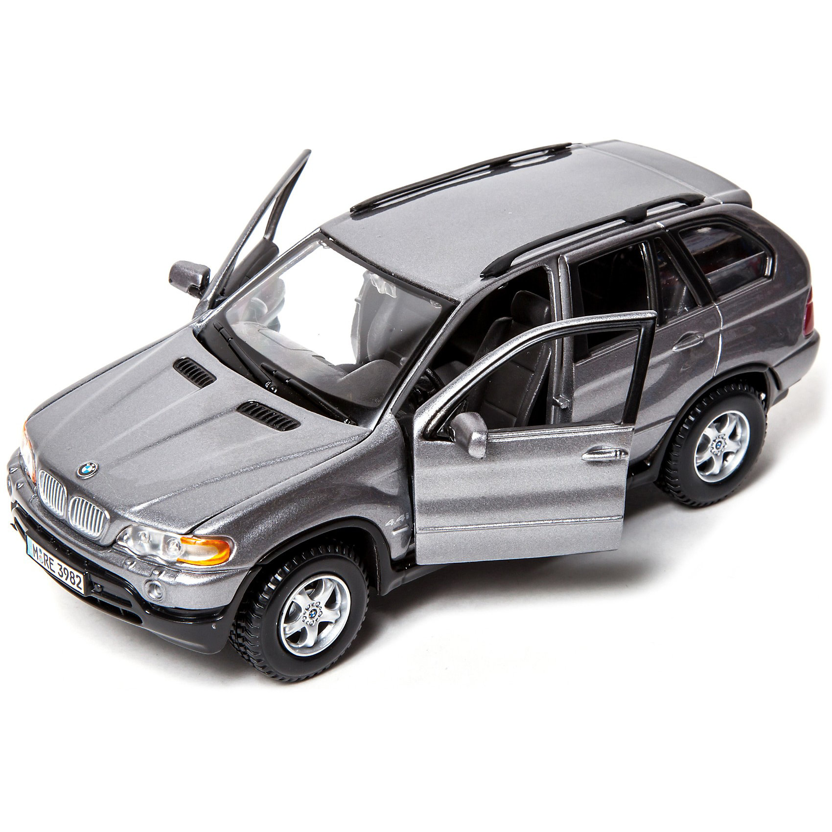 Машина BMW X5 металл., 1:24, BburagoМашина BMW X5 металл., 1:24, Bburago(Бураго)<br>Компания Bburago – мировой лидер в производстве коллекционных  моделей автомобилей.  <br>Более 30 лет профессиональные дизайнеры Bburago разрабатывают точные копии современных машин и ретро машин известных марок.  <br><br>Первый BMW X5, дебютировавший в 1999 году, менеджеры компании назвали автомобилем класса Sport Activity Vehicle (SAV), то есть машиной, рассчитанной на людей, ведущих активный образ жизни.<br>По сегодняшним меркам такой автомобиль более подходит под определение «кроссовер», ибо по своей концепции и оснащению он предназначен для хороших дорог и скоростной езды.<br><br>Функциональность игрушки:<br>- автомобиль  создан в масштабе 1:24<br>- у модели крутится руль, колеса, открываются двери и капот<br>- цвет автомобиля: серый металлик, красный<br><br>Дополнительная информация:<br><br>- Материал: Металл<br>- Размеры упаковки: 24,2 х 10 х 10 см<br>- Вес: 0,6 кг.<br><br>ВНИМАНИЕ! Данный артикул имеется в наличии в разных цветовых исполнениях(серый металлик, красный). К сожалению, заранее выбрать определенный цвет невозможно. <br><br>Игрушку Машина BMW X5 металл., 1:24, Bburago можно купить в нашем интернет-магазине.<br><br>Ширина мм: 125<br>Глубина мм: 241<br>Высота мм: 101<br>Вес г: 542<br>Возраст от месяцев: 72<br>Возраст до месяцев: 1200<br>Пол: Мужской<br>Возраст: Детский<br>SKU: 1784082