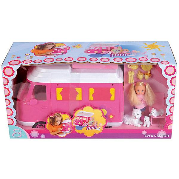 Кукла Еви на отдыхе с аксессуарами, SimbaКуклы<br>Характеристики:<br><br>• аксессуары: трейлер, бассейн, горка, столик, шезлонги, комплект посуды, столовые приборы;<br>• материал: пластик, текстиль;<br>• высота куклы: 12 см;<br>• длина автобуса: 30 см;<br>• размер упаковки: 40,5х22х17 см.<br><br>Кукла Еви отправляется на пикник. Функциональный автобус укомплектован всем необходимым для отдыха: в багажник складываются крупные вещи, а в салоне находятся мелкие предметы. В трейлере есть кабина водителя, кухня, комната и туалет. Крыша откидывается, боковая стенка опускается и образует плацдарм для отдыха. <br><br>Кукла Еви на отдыхе с аксессуарами, Simba можно купить в нашем магазине.<br><br>Ширина мм: 160<br>Глубина мм: 400<br>Высота мм: 220<br>Вес г: 1422<br>Возраст от месяцев: 36<br>Возраст до месяцев: 72<br>Пол: Женский<br>Возраст: Детский<br>SKU: 1791356