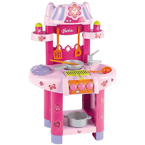 Кухонный центр, BarbieДетские кухни<br>Кухонный центр от бренда Barbie понравится не только любительницам этих кукол. В наборе есть всё необходимое, чтобы готовить куклам вкусные блюда - плита с грилем, предметы посуды и емкости со специями, полочки для кухонных принадлежностей и еды, раковина и кран. <br>Набор сделан из качественного пластика, безопасного для детей. Набор яркий, очень красиво смотрится. Он станет отличным подарком девочке!<br><br>Дополнительная информация:<br><br>цвет: разноцветный;<br>материал: пластик;<br>комплектация: плита с грилем, предметы посуды и емкости со специями, полочки для кухонных принадлежностей и еды, раковина и кран;<br>размер: 75,5 х 42 х 30 см.<br><br>Кухонный центр от бренда Barbie можно купить в нашем магазине.<br>Ширина мм: 395; Глубина мм: 535; Высота мм: 230; Вес г: 1900; Возраст от месяцев: 36; Возраст до месяцев: 1164; Пол: Женский; Возраст: Детский; SKU: 1813191;