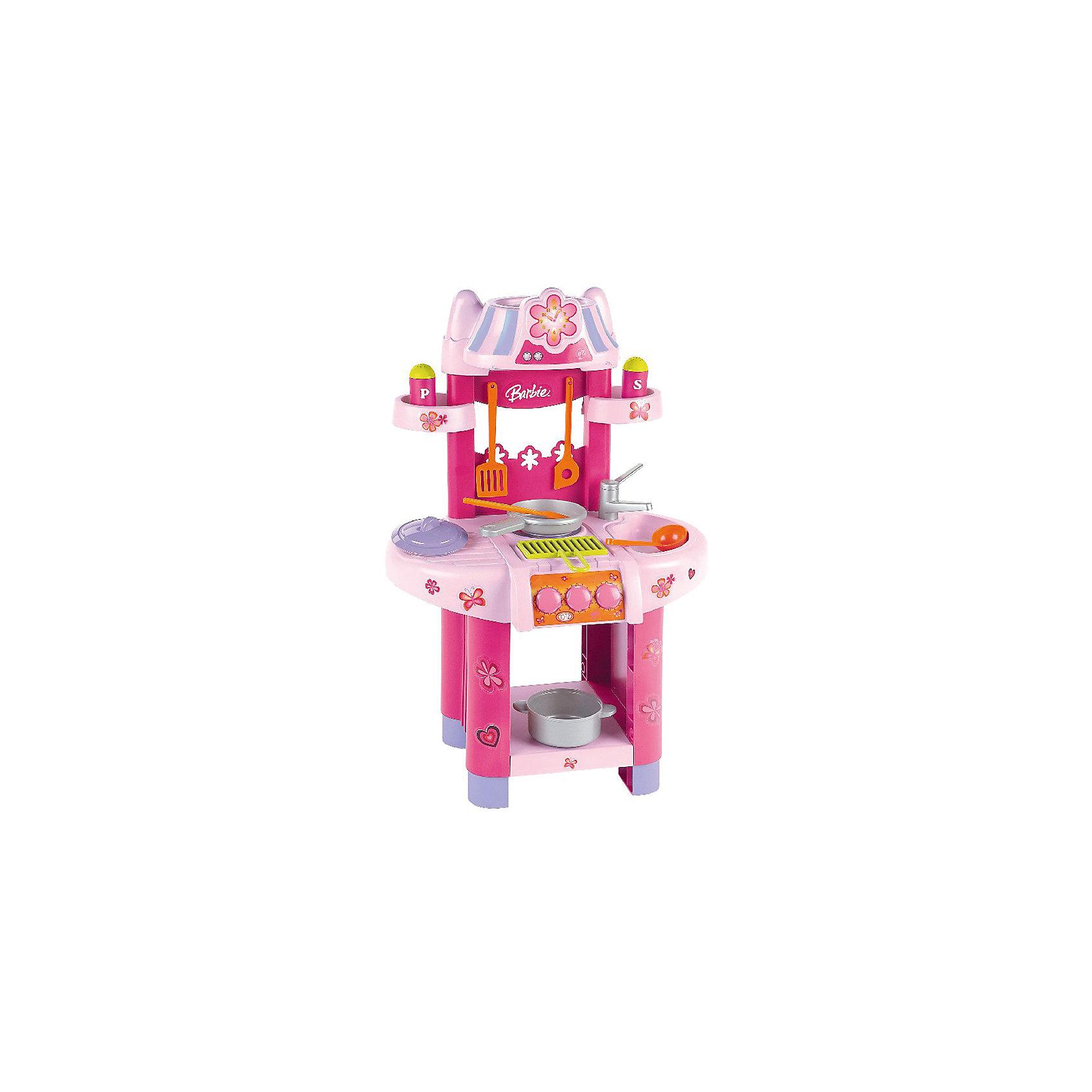 Кухонный центр, BarbieДетские кухни<br>Кухонный центр от бренда Barbie понравится не только любительницам этих кукол. В наборе есть всё необходимое, чтобы готовить куклам вкусные блюда - плита с грилем, предметы посуды и емкости со специями, полочки для кухонных принадлежностей и еды, раковина и кран. <br>Набор сделан из качественного пластика, безопасного для детей. Набор яркий, очень красиво смотрится. Он станет отличным подарком девочке!<br><br>Дополнительная информация:<br><br>цвет: разноцветный;<br>материал: пластик;<br>комплектация: плита с грилем, предметы посуды и емкости со специями, полочки для кухонных принадлежностей и еды, раковина и кран;<br>размер: 75,5 х 42 х 30 см.<br><br>Кухонный центр от бренда Barbie можно купить в нашем магазине.<br><br>Ширина мм: 395<br>Глубина мм: 535<br>Высота мм: 230<br>Вес г: 1900<br>Возраст от месяцев: 36<br>Возраст до месяцев: 1164<br>Пол: Женский<br>Возраст: Детский<br>SKU: 1813191