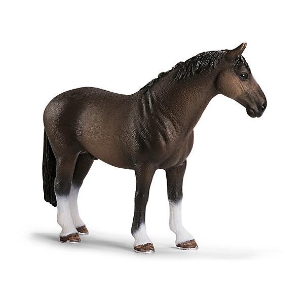 Schleich Жеребец ганноверской породы. Серия ЛошадиМир животных<br>Коллекционные и игровые фигурки фирмы Schleich (Шляйх) из тематической серии Лошади. Познакомьтесь: жеребец ганноверской породы!<br><br>Представители этой породы – классические спортивные лошади, которых отличает прямоугольный формат (т. е. длина туловища больше, чем высота в холке). Эти лошади используются как в выездке, так и в конкуре, и добиваются высочайших успехов. Они славятся смышленостью, внимательностью, уравновешенным нравом и темпераментом.<br><br>Подробнее:<br><br>- Размеры (д/ш/в): прибл. 13,2 x 3,9 x 10,2 см<br>- Фигурка раскрашена вручную<br>- Материал: пластик<br><br>Ширина мм: 143<br>Глубина мм: 111<br>Высота мм: 38<br>Вес г: 136<br>Возраст от месяцев: 36<br>Возраст до месяцев: 96<br>Пол: Женский<br>Возраст: Детский<br>SKU: 1821328