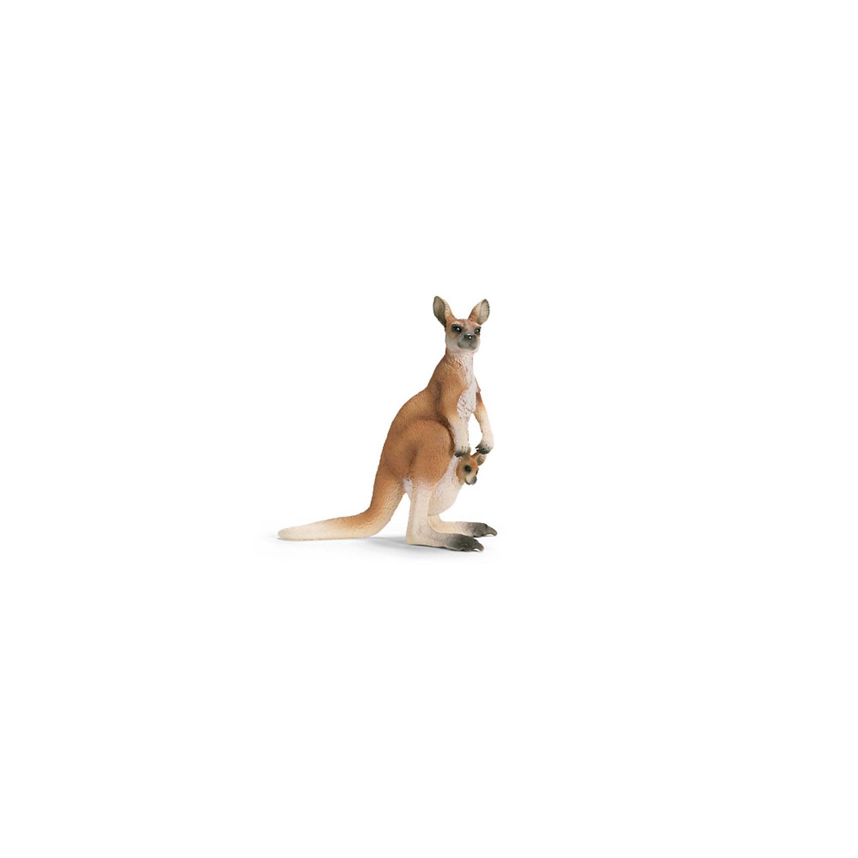 Schleich Кенгуру. Серия Дикие животныеМир животных<br>Schleich (Шляйх), кенгуру. Серия Дикие животные.<br><br>Характеристика:<br><br>• Материал: резина, пластик.  <br>• Размер фигурки: 8,6x3,7x9,3 см. <br>• Фигурка прекрасно детализирована.<br>• Реалистично раскрашена вручную. <br><br>Фигурка кенгуру отлично детализирована и реалистично раскрашена. Игрушки серии Дикие животные от немецкого бренда Schleich изготовлены из высококачественных экологичных материалов, с применением только безопасных, нетоксичных красителей. Собери всю коллекцию Schleich и познакомься поближе с такими удивительными дикими и домашними животными! <br><br>Schleich (Шляйх), кенгуру, серия Дикие животные, можно купить в нашем интернет-магазине.<br><br>Ширина мм: 139<br>Глубина мм: 96<br>Высота мм: 45<br>Вес г: 50<br>Возраст от месяцев: 36<br>Возраст до месяцев: 96<br>Пол: Унисекс<br>Возраст: Детский<br>SKU: 1821348